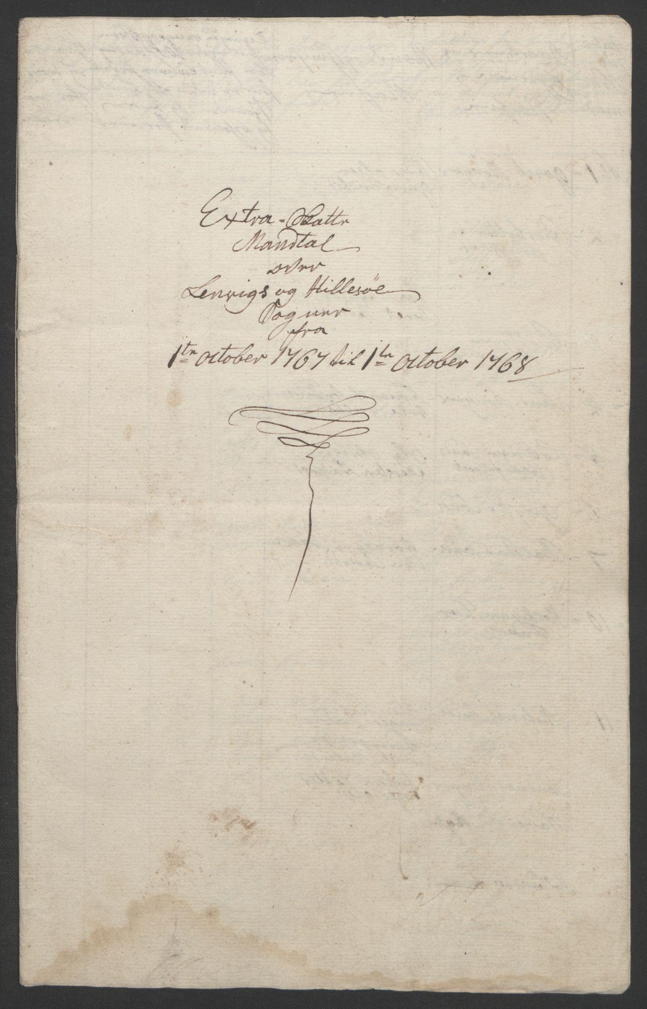 RA, Rentekammeret inntil 1814, Realistisk ordnet avdeling, Ol/L0022b: [Gg 10]: Ekstraskatten, 23.09.1762. Senja og Troms, 1765-1768, s. 262