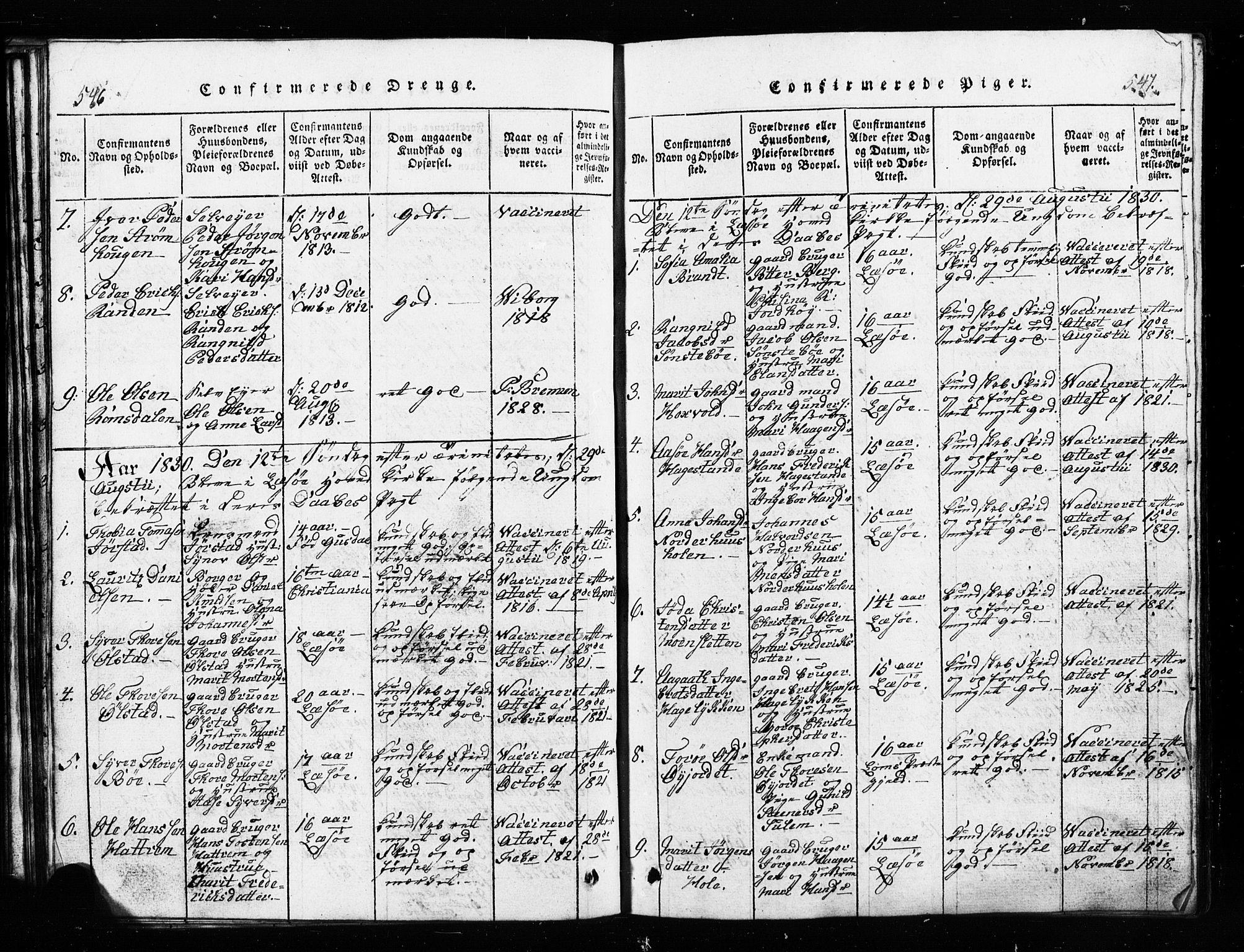 SAH, Lesja prestekontor, Klokkerbok nr. 1, 1820-1831, s. 546-547