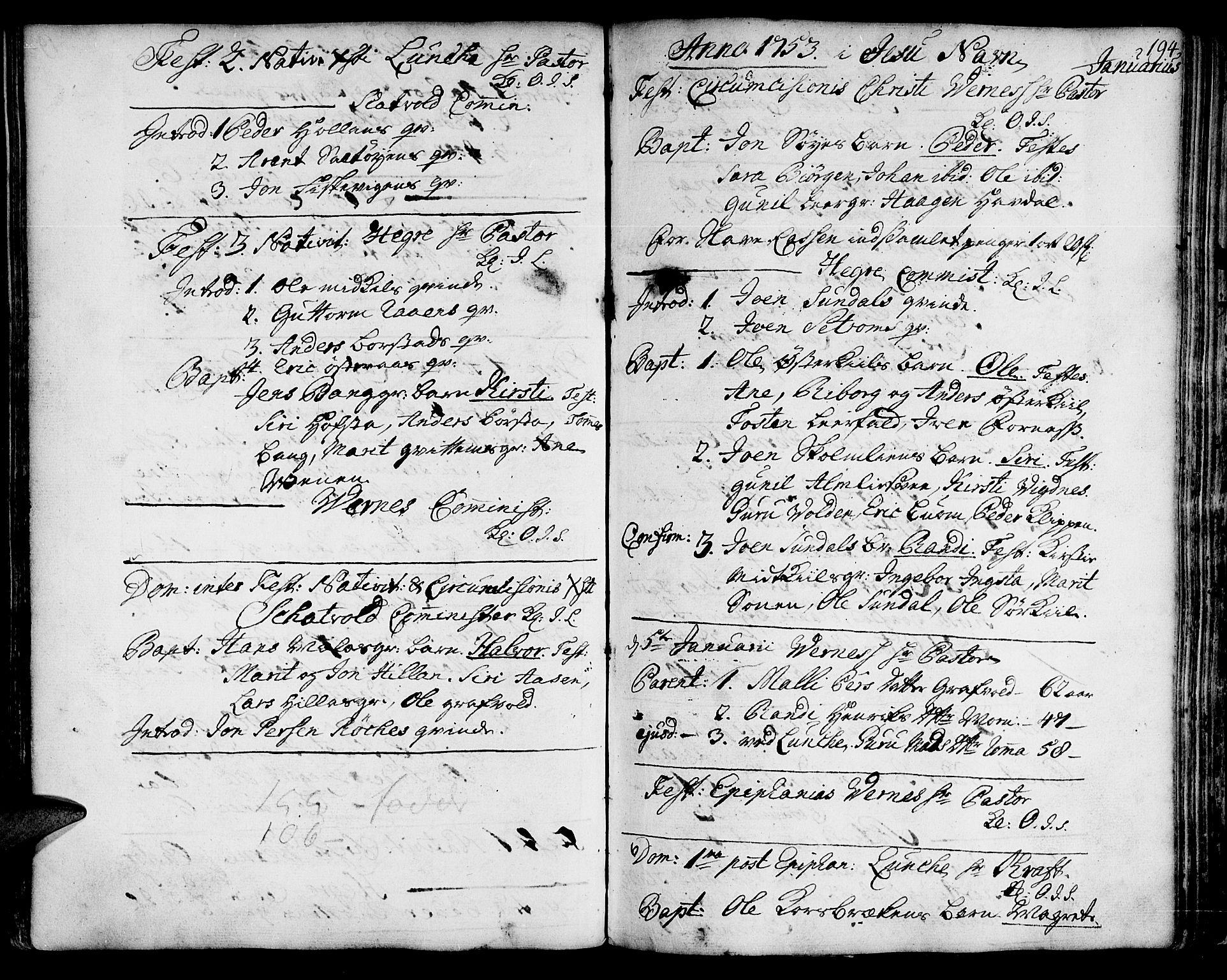 SAT, Ministerialprotokoller, klokkerbøker og fødselsregistre - Nord-Trøndelag, 709/L0056: Ministerialbok nr. 709A04, 1740-1756, s. 194