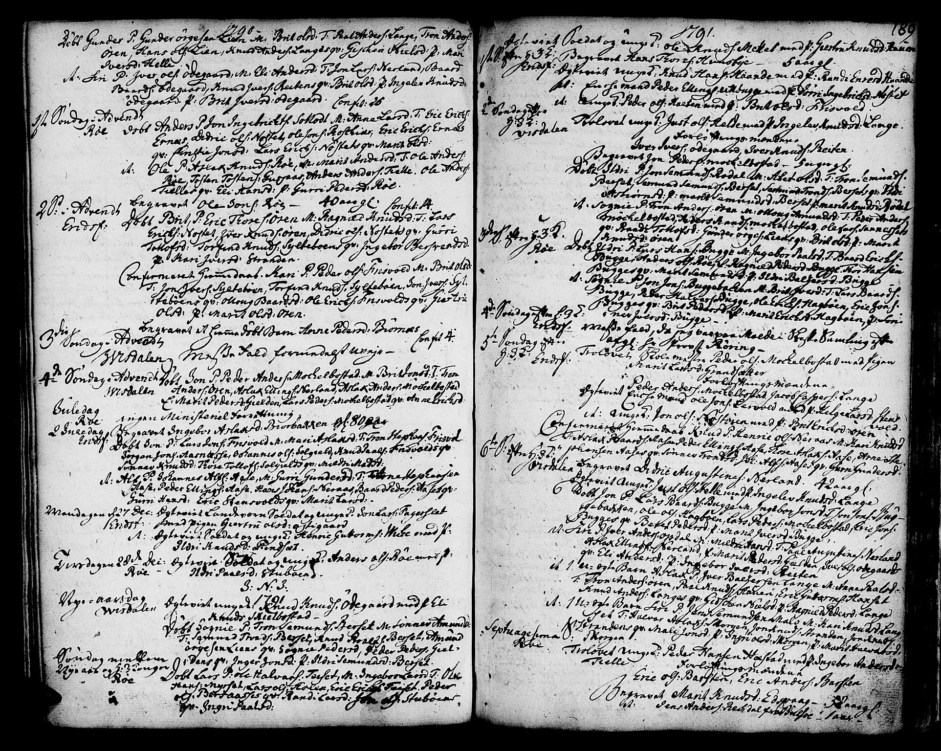 SAT, Ministerialprotokoller, klokkerbøker og fødselsregistre - Møre og Romsdal, 551/L0621: Ministerialbok nr. 551A01, 1757-1803, s. 189