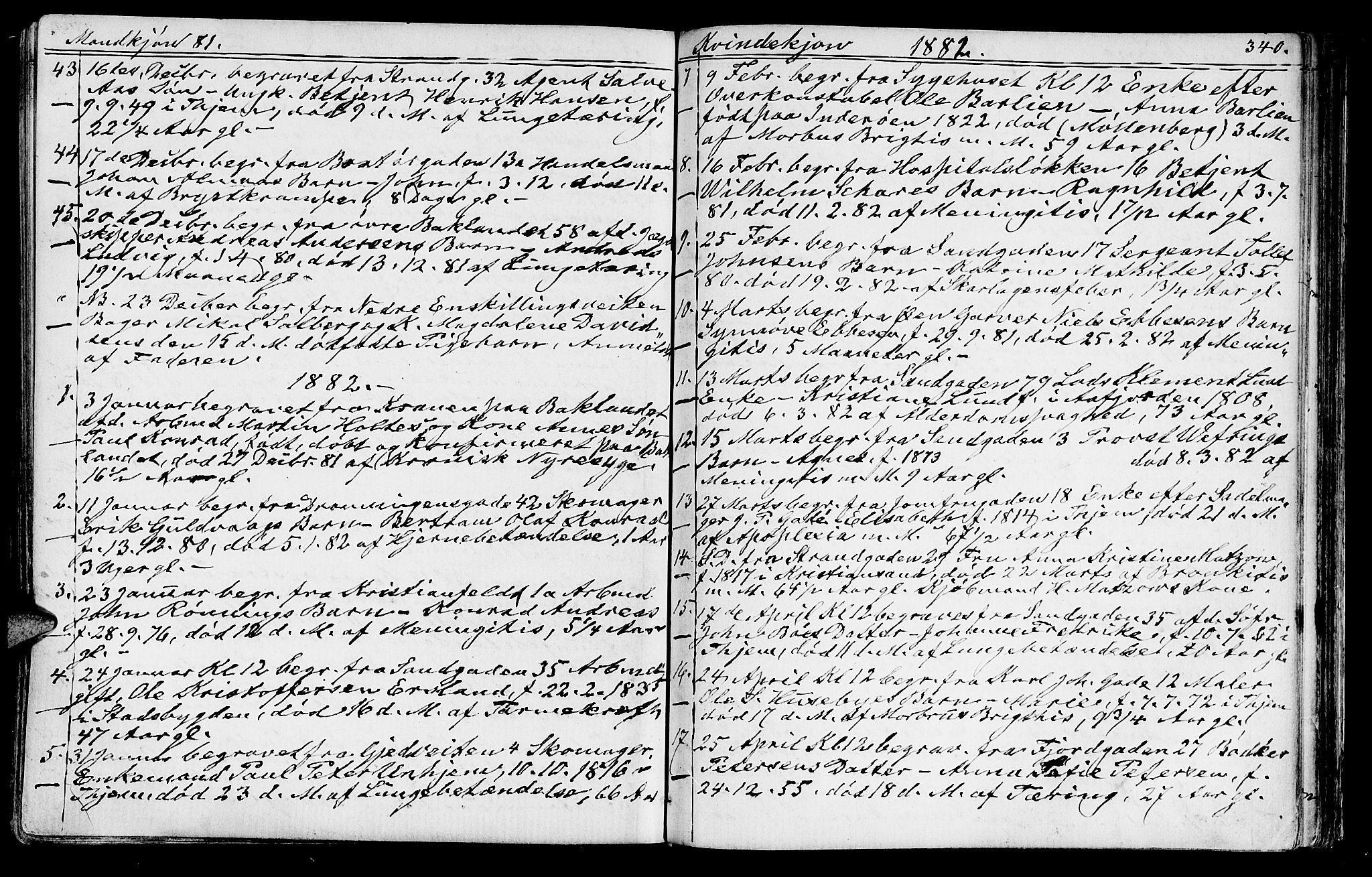 SAT, Ministerialprotokoller, klokkerbøker og fødselsregistre - Sør-Trøndelag, 602/L0142: Klokkerbok nr. 602C10, 1872-1894, s. 340