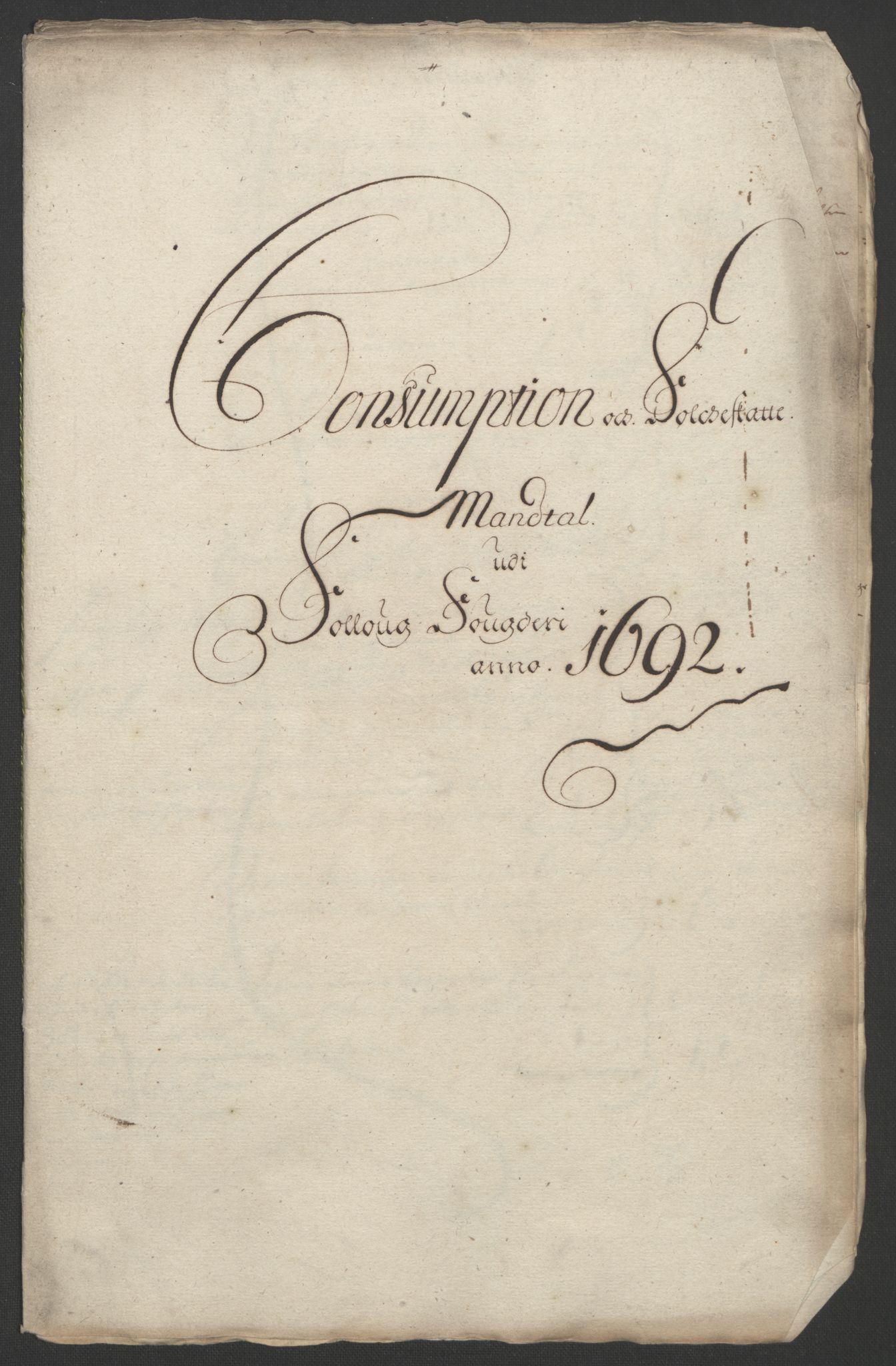 RA, Rentekammeret inntil 1814, Reviderte regnskaper, Fogderegnskap, R09/L0437: Fogderegnskap Follo, 1692-1693, s. 155