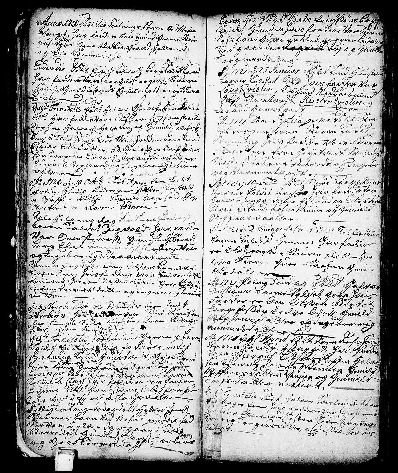 SAKO, Vinje kirkebøker, F/Fa/L0001: Ministerialbok nr. I 1, 1717-1766, s. 67
