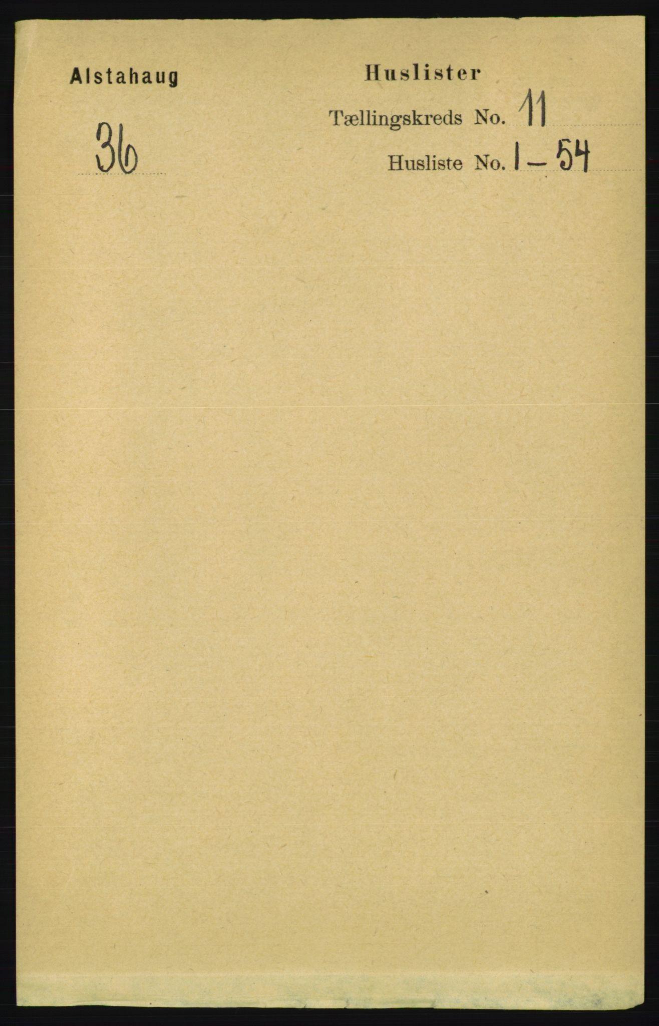 RA, Folketelling 1891 for 1820 Alstahaug herred, 1891, s. 3813