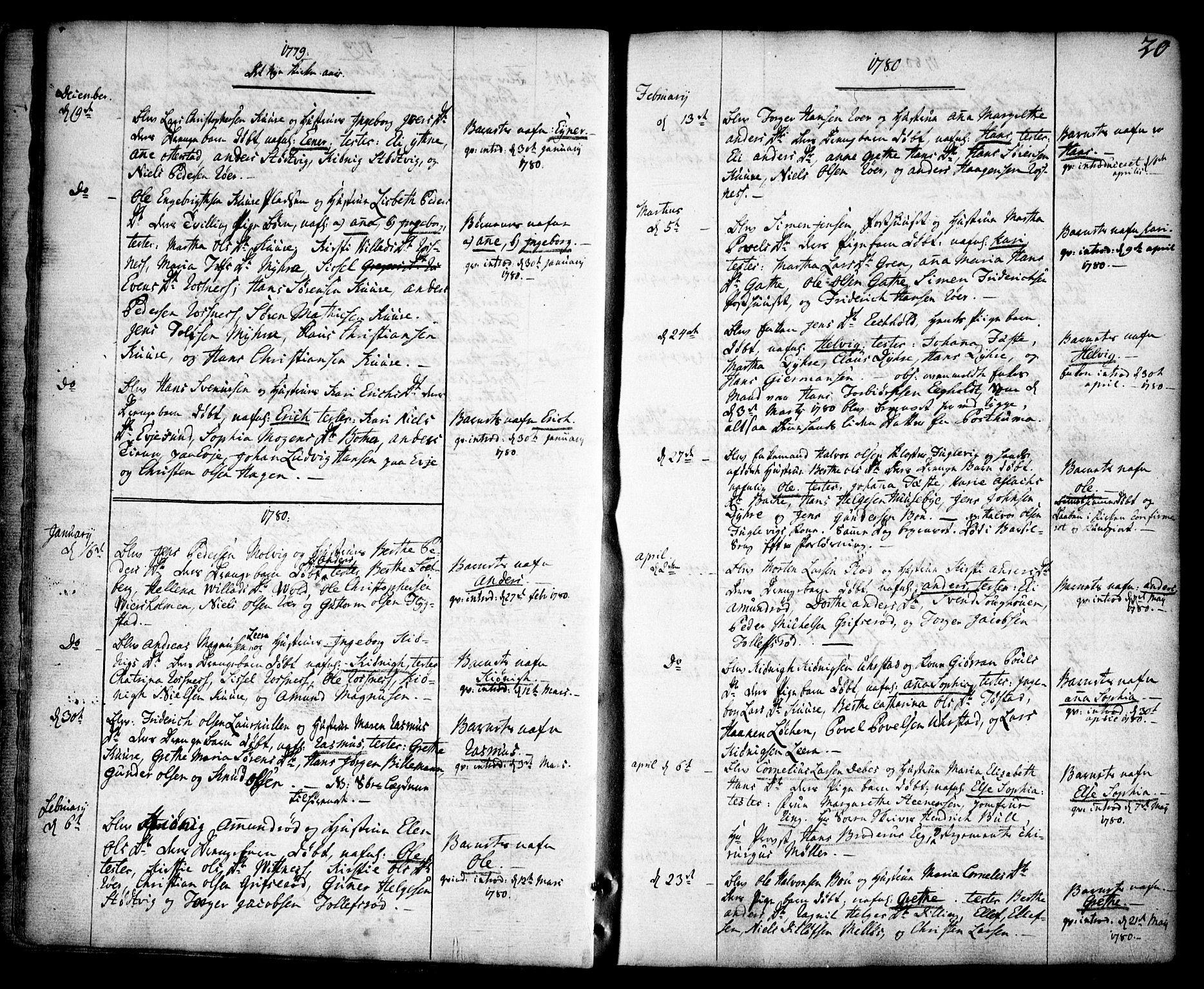 SAO, Rygge prestekontor Kirkebøker, F/Fa/L0002: Ministerialbok nr. 2, 1771-1814, s. 20