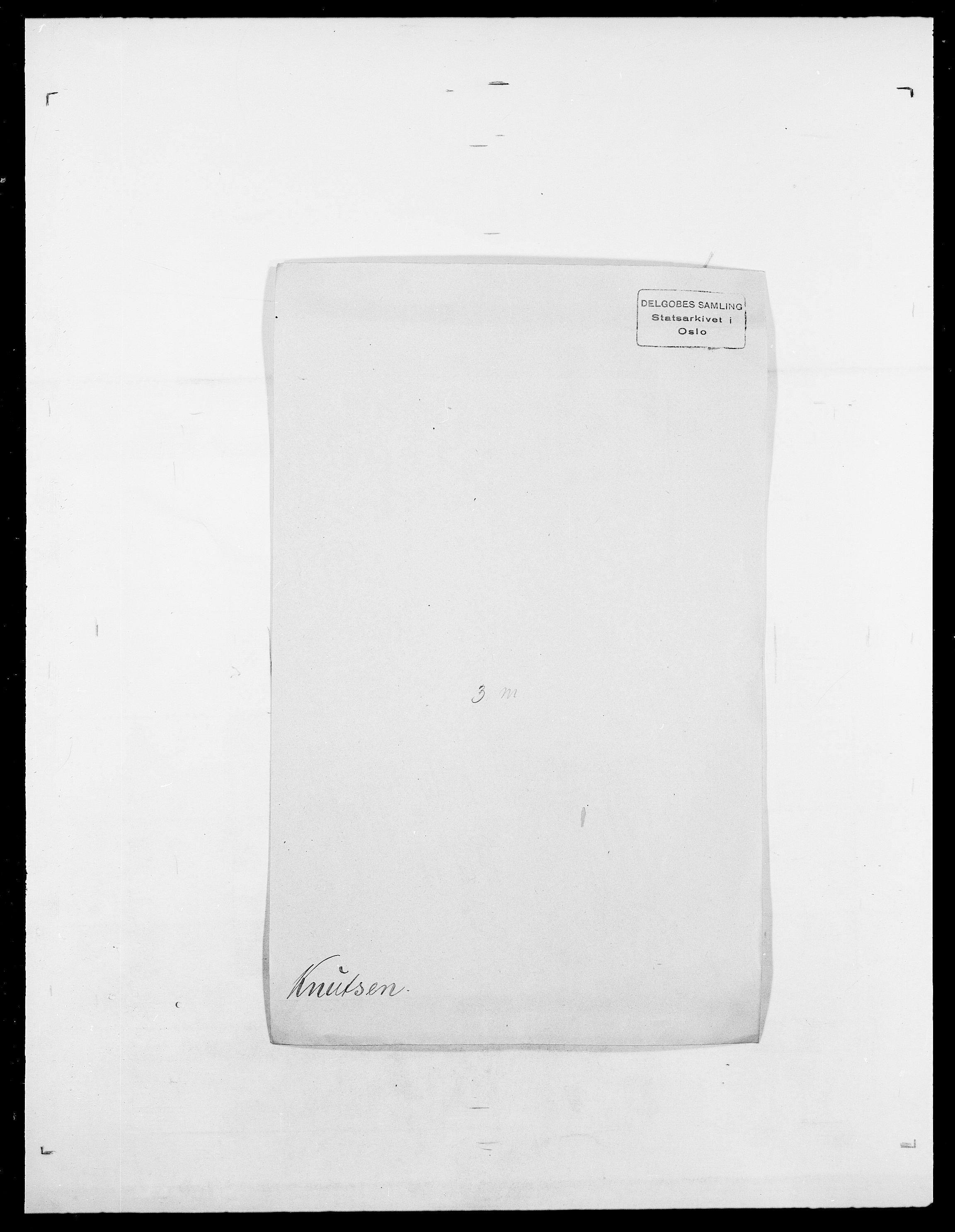 SAO, Delgobe, Charles Antoine - samling, D/Da/L0021: Klagenberg - Kristoft, s. 398