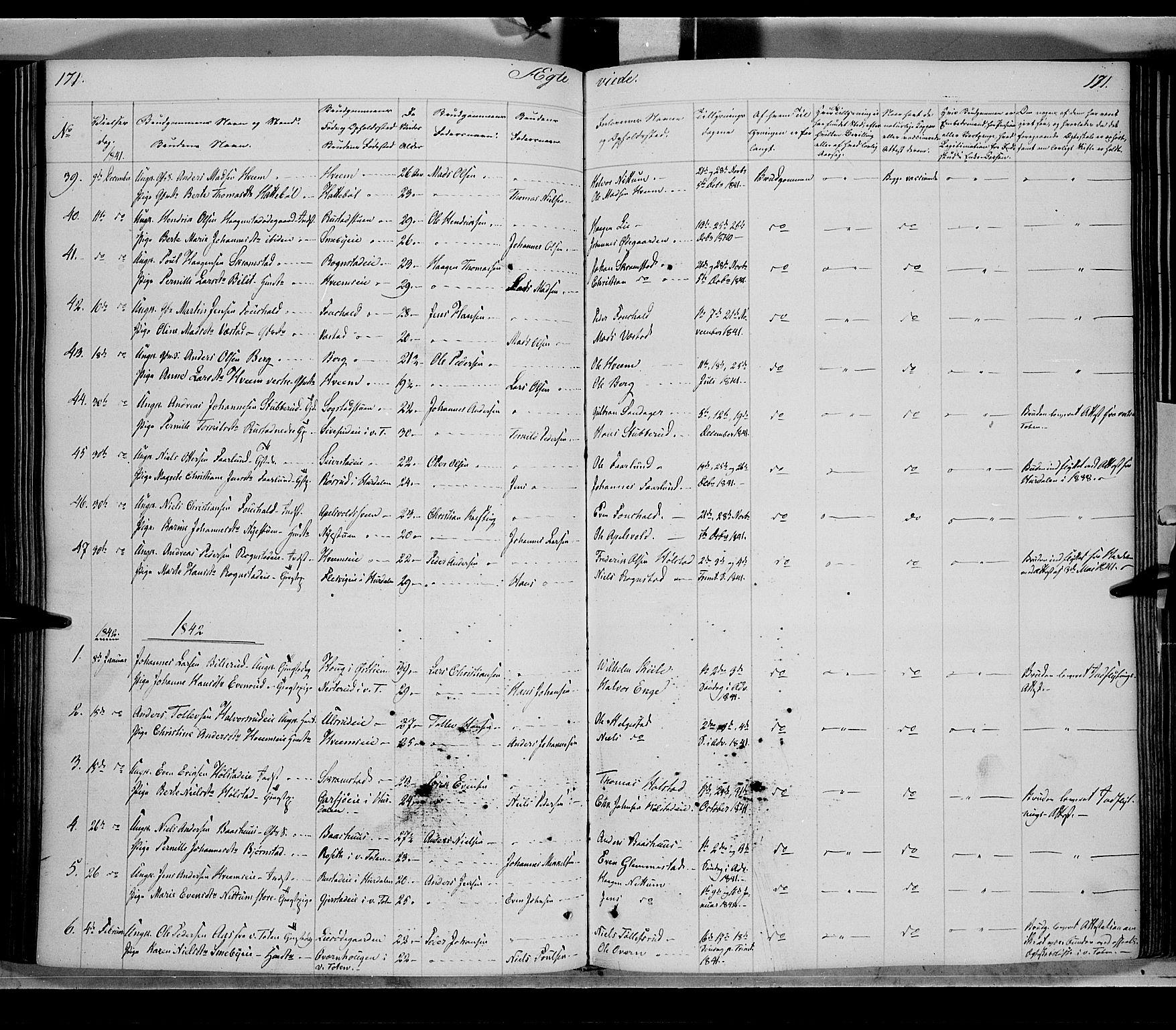 SAH, Østre Toten prestekontor, Ministerialbok nr. 2, 1840-1847, s. 171