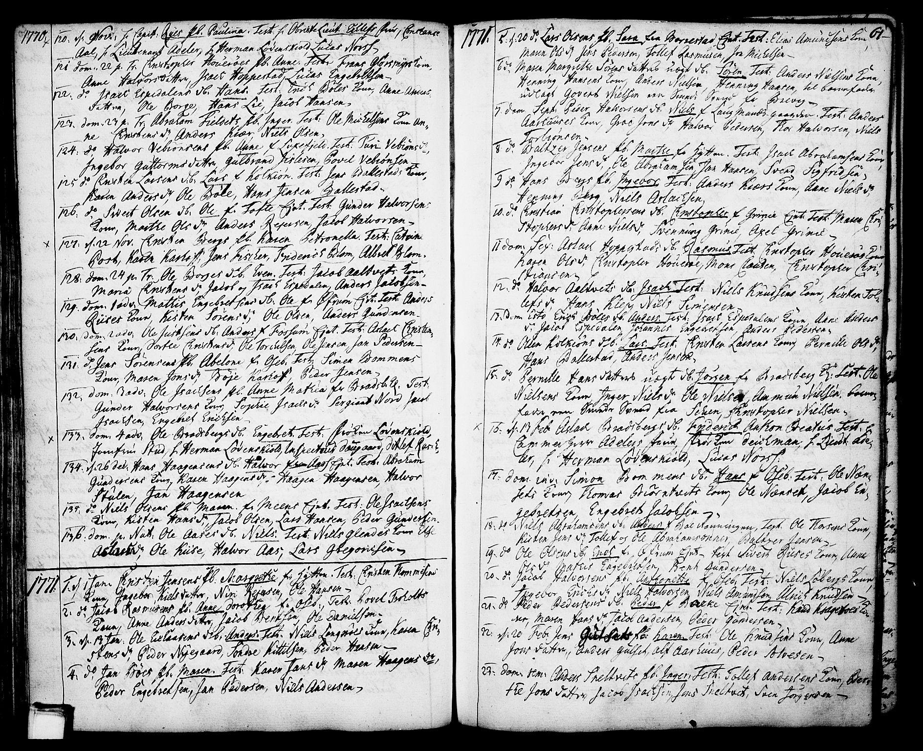 SAKO, Gjerpen kirkebøker, F/Fa/L0002: Ministerialbok nr. 2, 1747-1795, s. 61