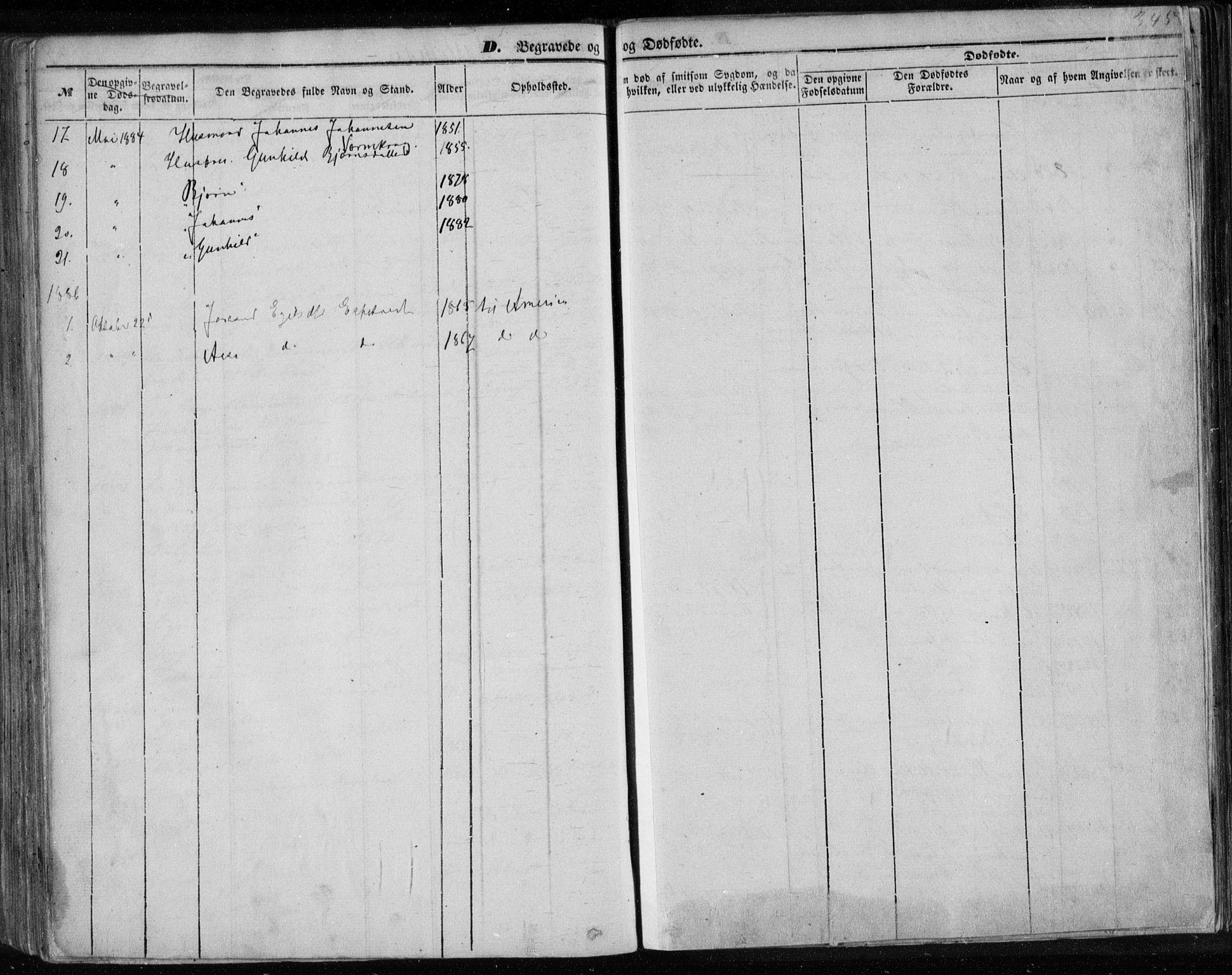 SAKO, Lårdal kirkebøker, F/Fa/L0006: Ministerialbok nr. I 6, 1861-1886, s. 345