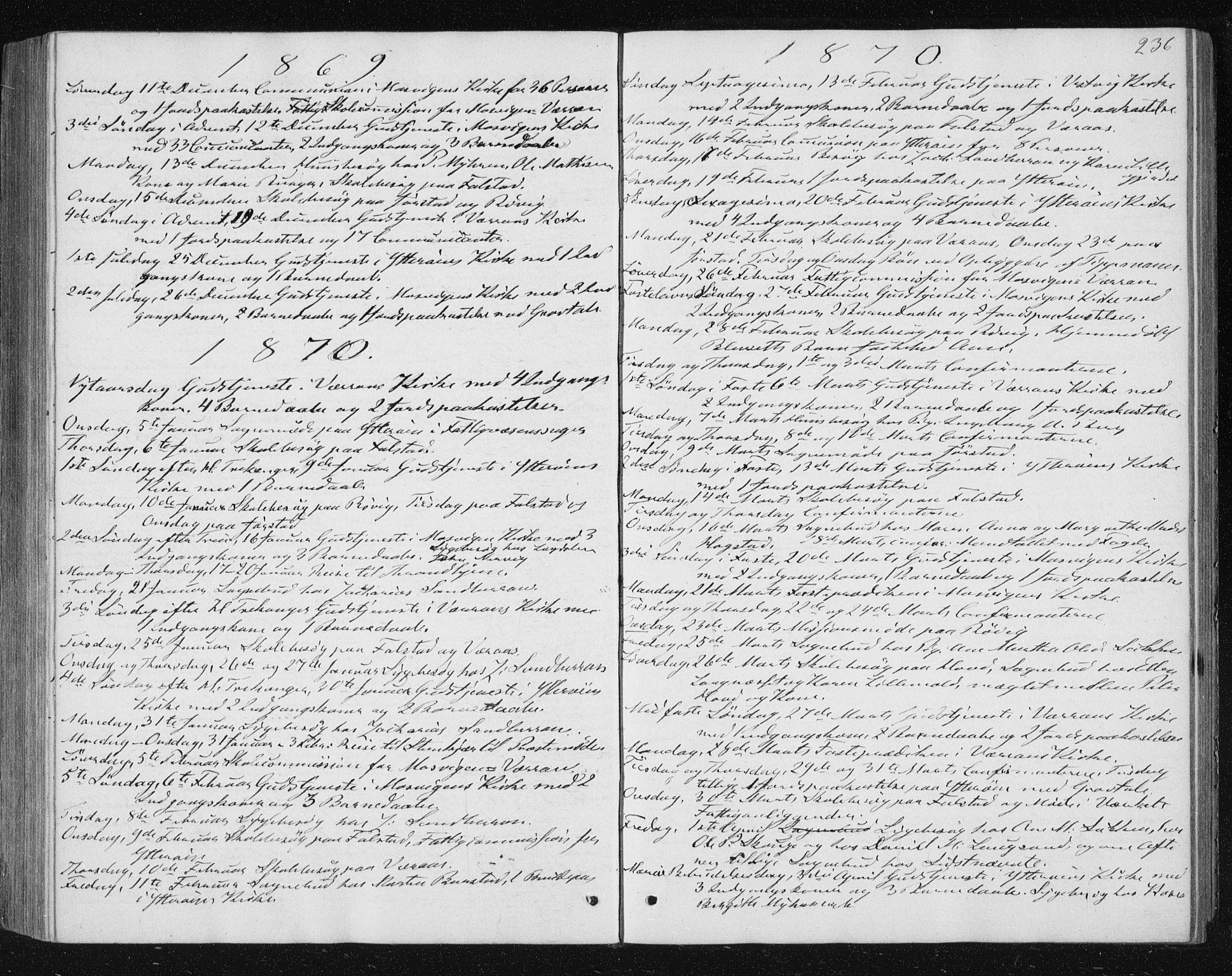 SAT, Ministerialprotokoller, klokkerbøker og fødselsregistre - Nord-Trøndelag, 722/L0219: Ministerialbok nr. 722A06, 1868-1880, s. 236
