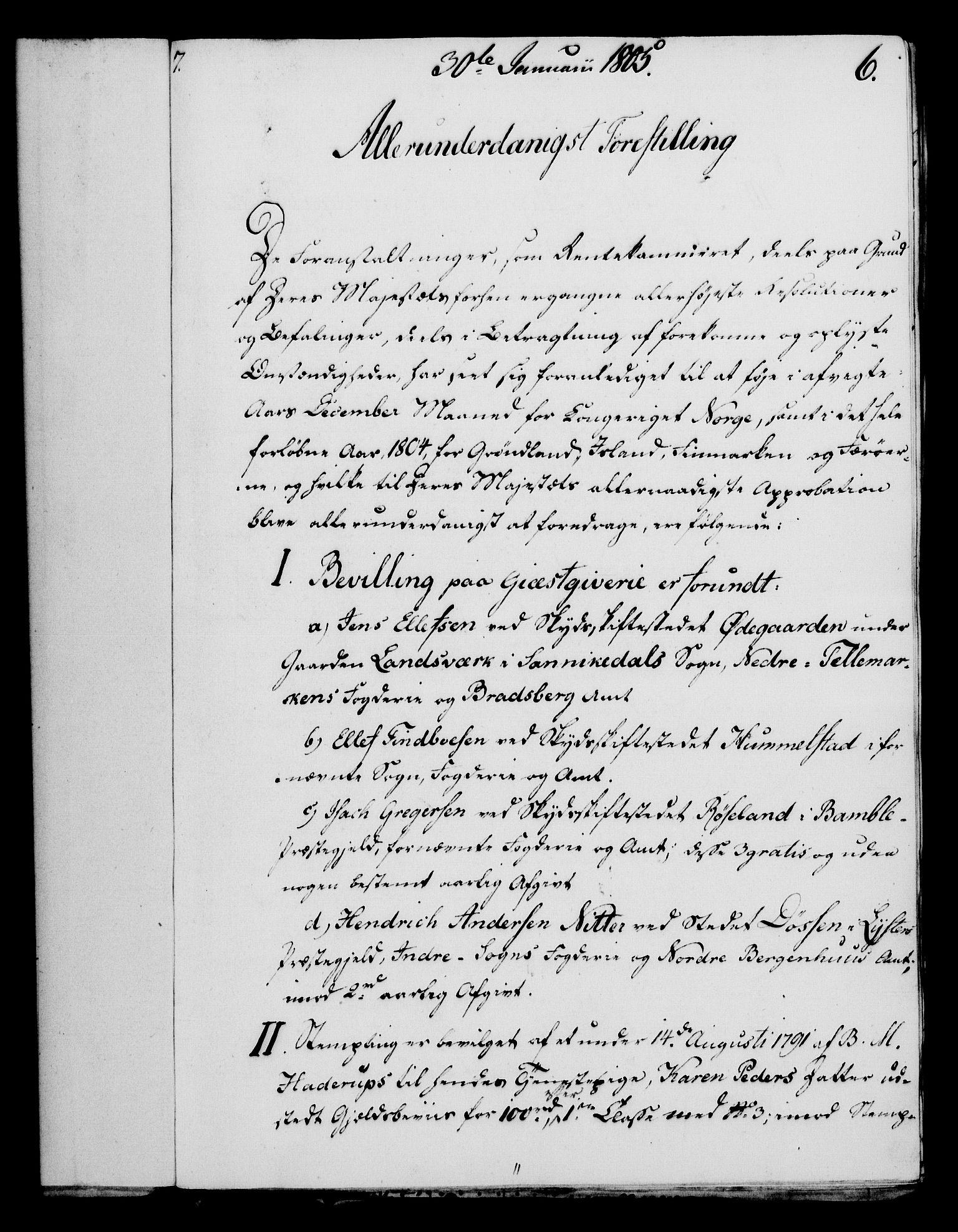 RA, Rentekammeret, Kammerkanselliet, G/Gf/Gfa/L0087: Norsk relasjons- og resolusjonsprotokoll (merket RK 52.87), 1805, s. 52