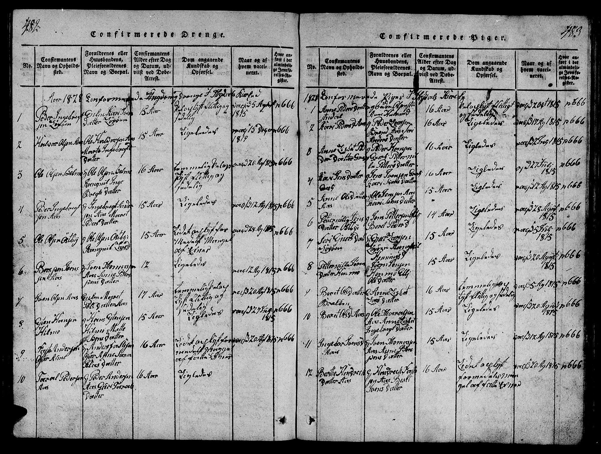 SAT, Ministerialprotokoller, klokkerbøker og fødselsregistre - Sør-Trøndelag, 698/L1164: Klokkerbok nr. 698C01, 1816-1861, s. 482-483