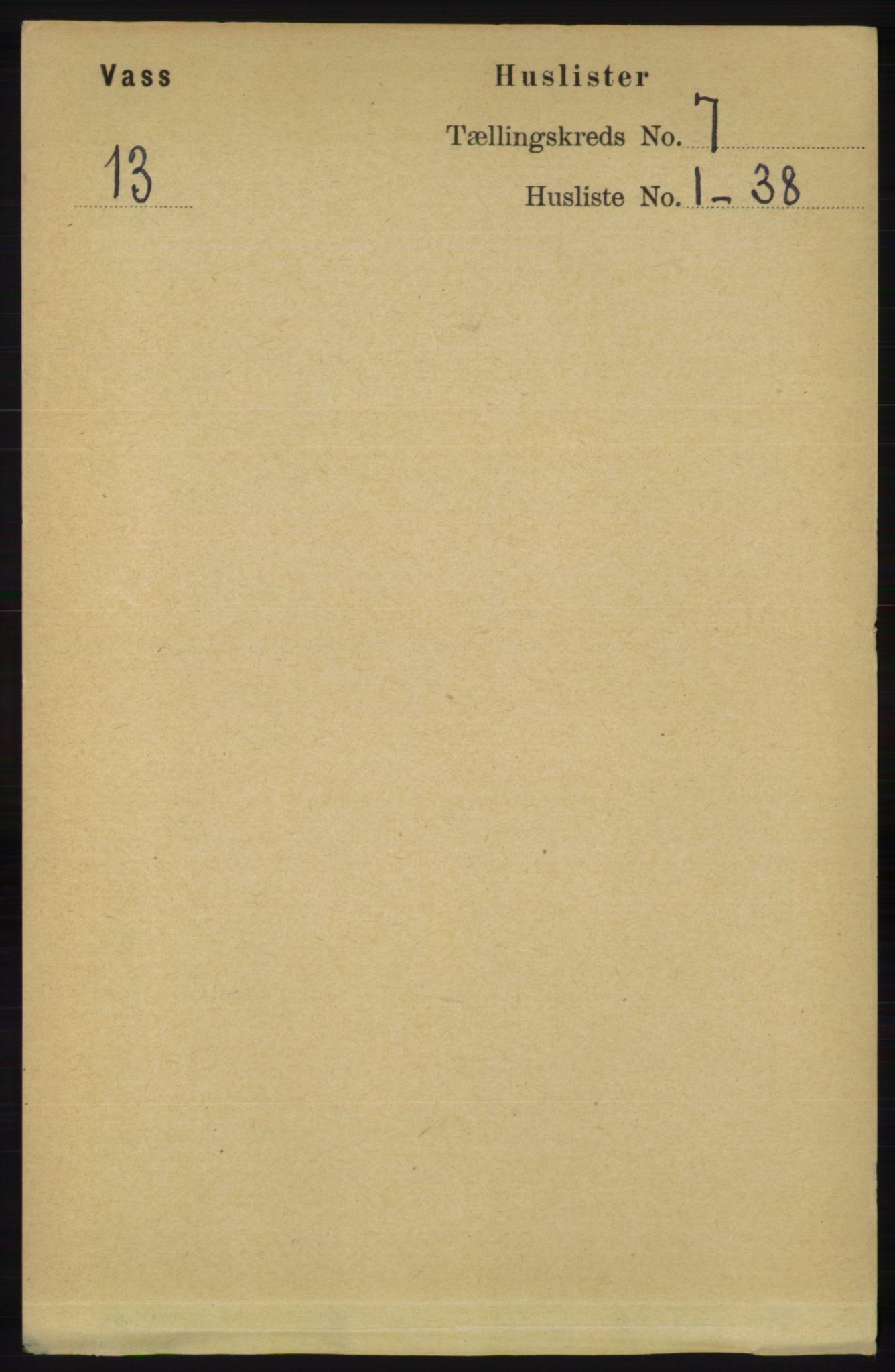 RA, Folketelling 1891 for 1155 Vats herred, 1891, s. 1059