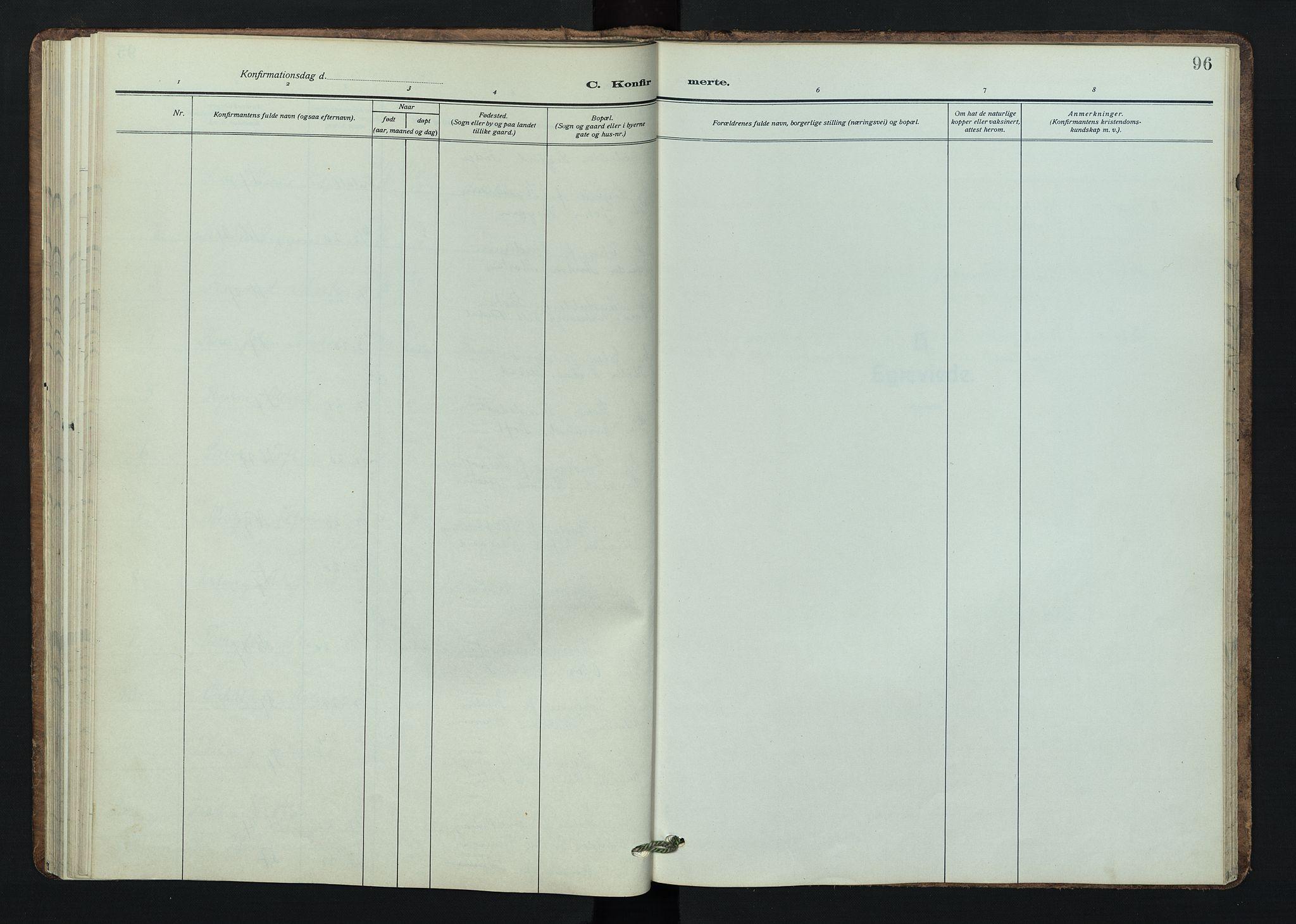 SAH, Østre Gausdal prestekontor, Klokkerbok nr. 5, 1915-1944, s. 96