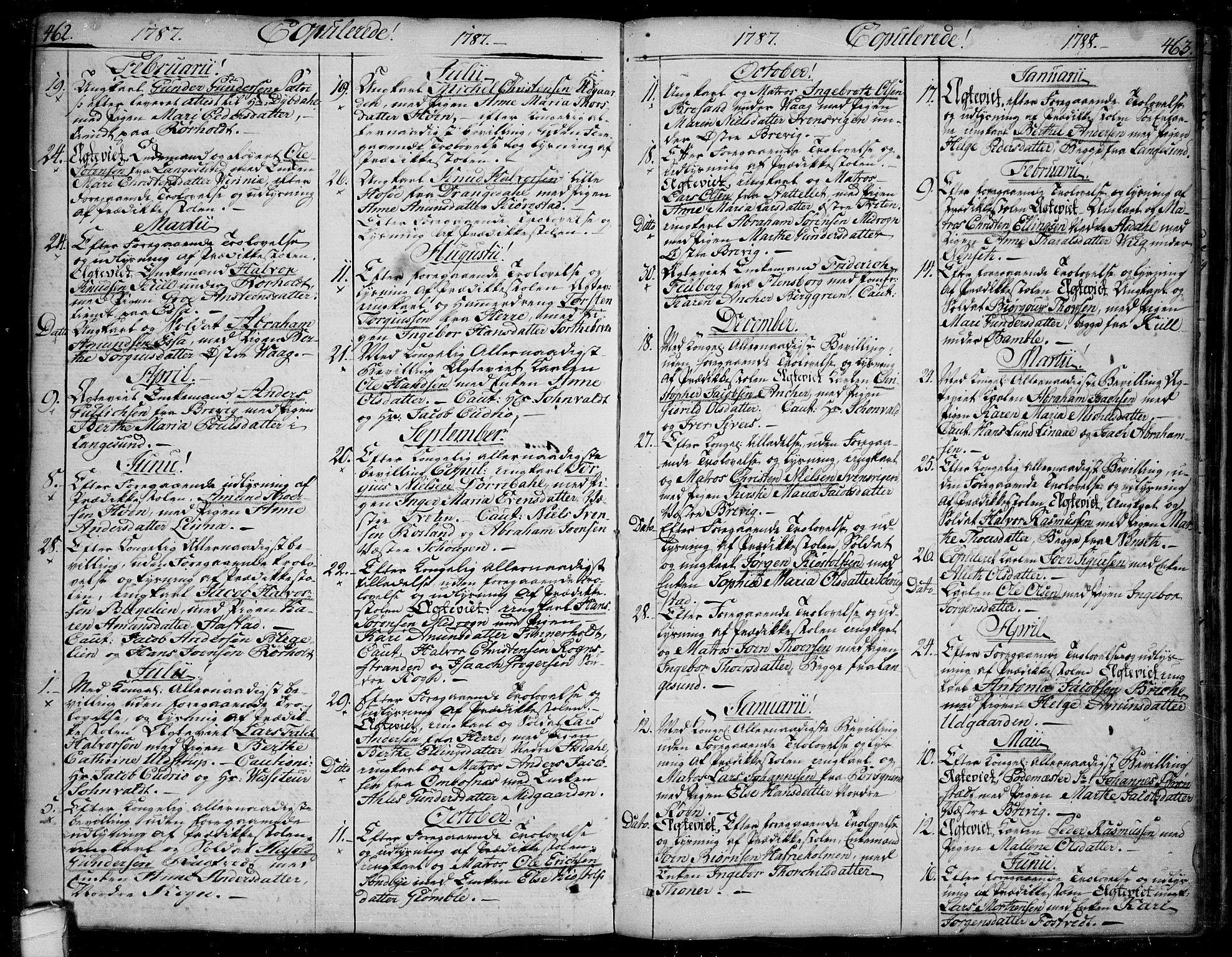 SAKO, Bamble kirkebøker, F/Fa/L0002: Ministerialbok nr. I 2, 1775-1814, s. 462-463