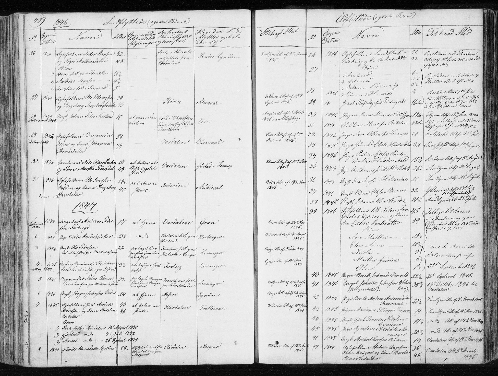 SAT, Ministerialprotokoller, klokkerbøker og fødselsregistre - Nord-Trøndelag, 717/L0154: Ministerialbok nr. 717A06 /1, 1836-1849, s. 459