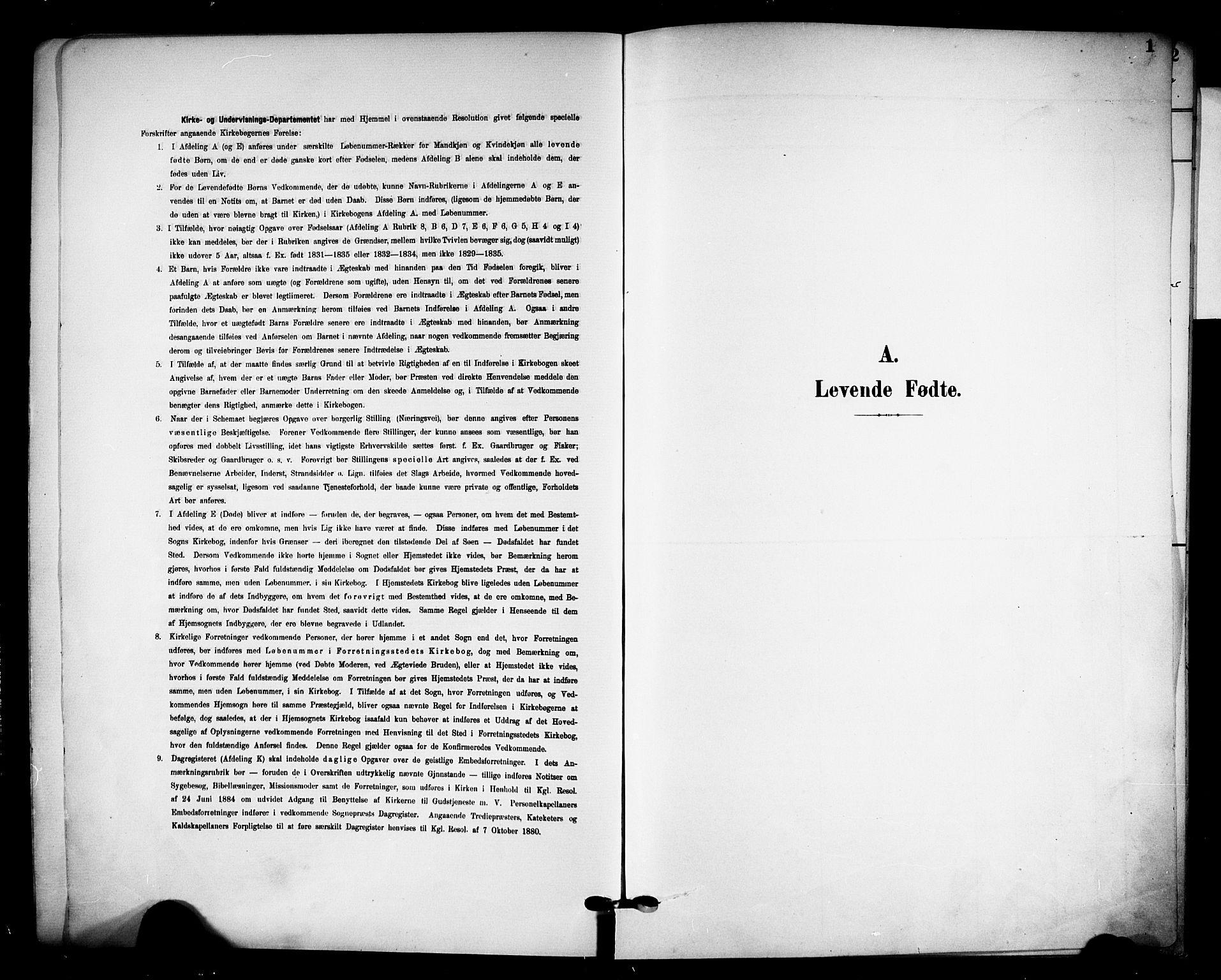 SAKO, Solum kirkebøker, F/Fa/L0011: Ministerialbok nr. I 11, 1898-1909, s. 1