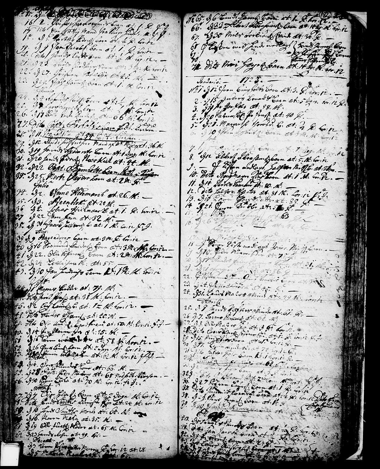 SAKO, Skien kirkebøker, F/Fa/L0002: Ministerialbok nr. 2, 1716-1757, s. 182
