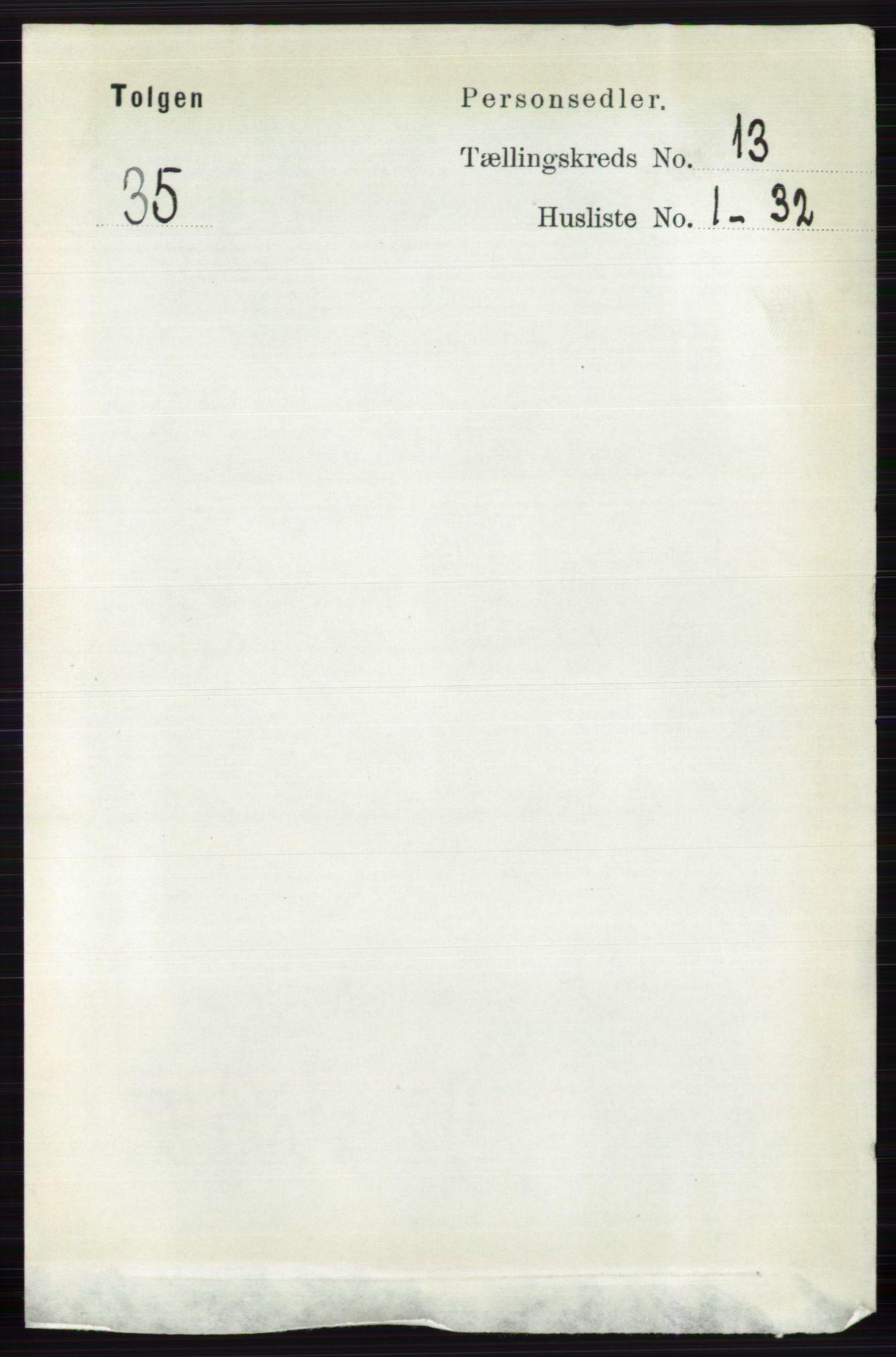 RA, Folketelling 1891 for 0436 Tolga herred, 1891, s. 3879