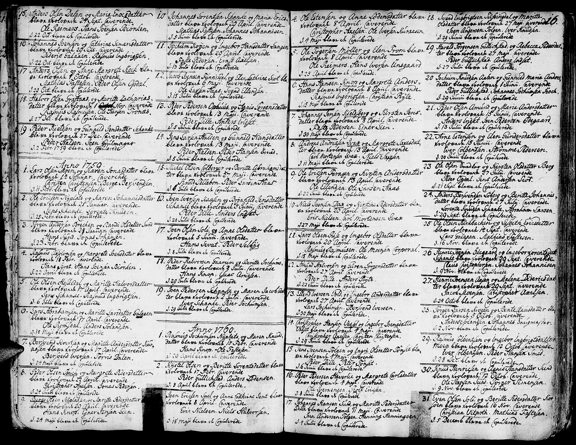 SAT, Ministerialprotokoller, klokkerbøker og fødselsregistre - Sør-Trøndelag, 681/L0925: Ministerialbok nr. 681A03, 1727-1766, s. 16