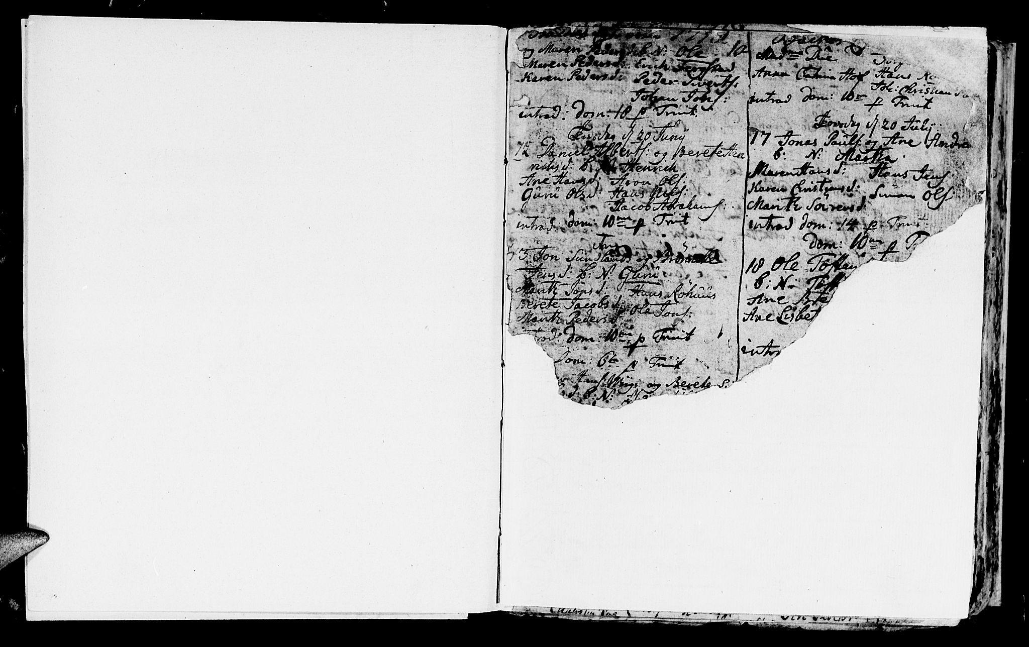 SAT, Ministerialprotokoller, klokkerbøker og fødselsregistre - Sør-Trøndelag, 604/L0218: Klokkerbok nr. 604C01, 1754-1819, s. 1a