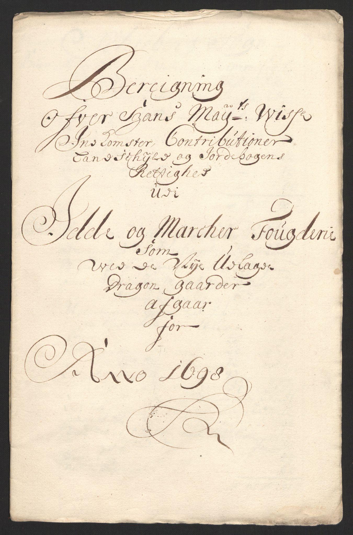RA, Rentekammeret inntil 1814, Reviderte regnskaper, Fogderegnskap, R01/L0013: Fogderegnskap Idd og Marker, 1696-1698, s. 356
