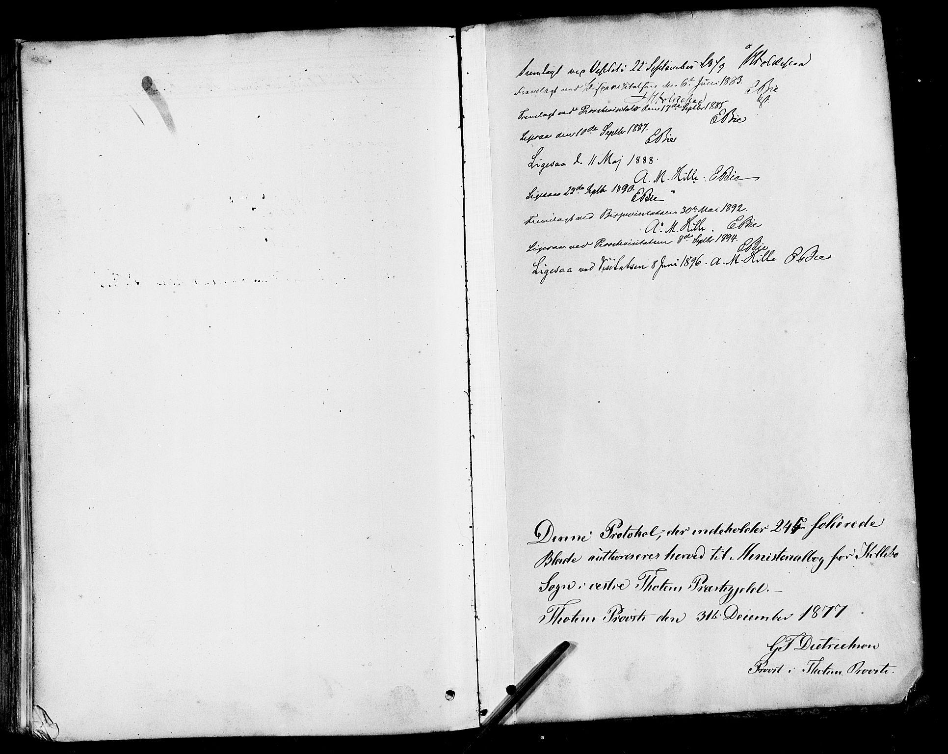 SAH, Vestre Toten prestekontor, Ministerialbok nr. 10, 1878-1894
