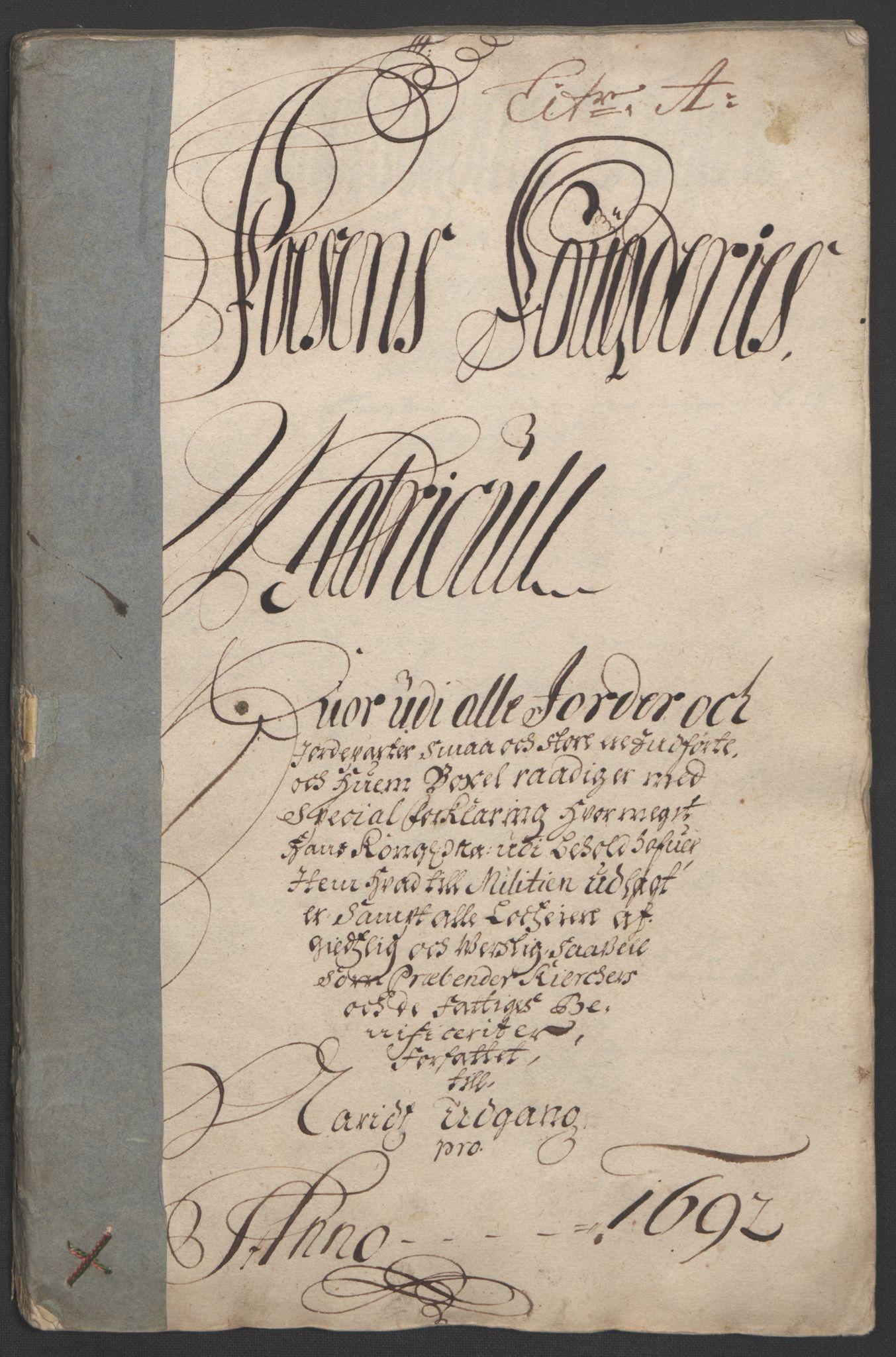 RA, Rentekammeret inntil 1814, Reviderte regnskaper, Fogderegnskap, R57/L3849: Fogderegnskap Fosen, 1692-1693, s. 18