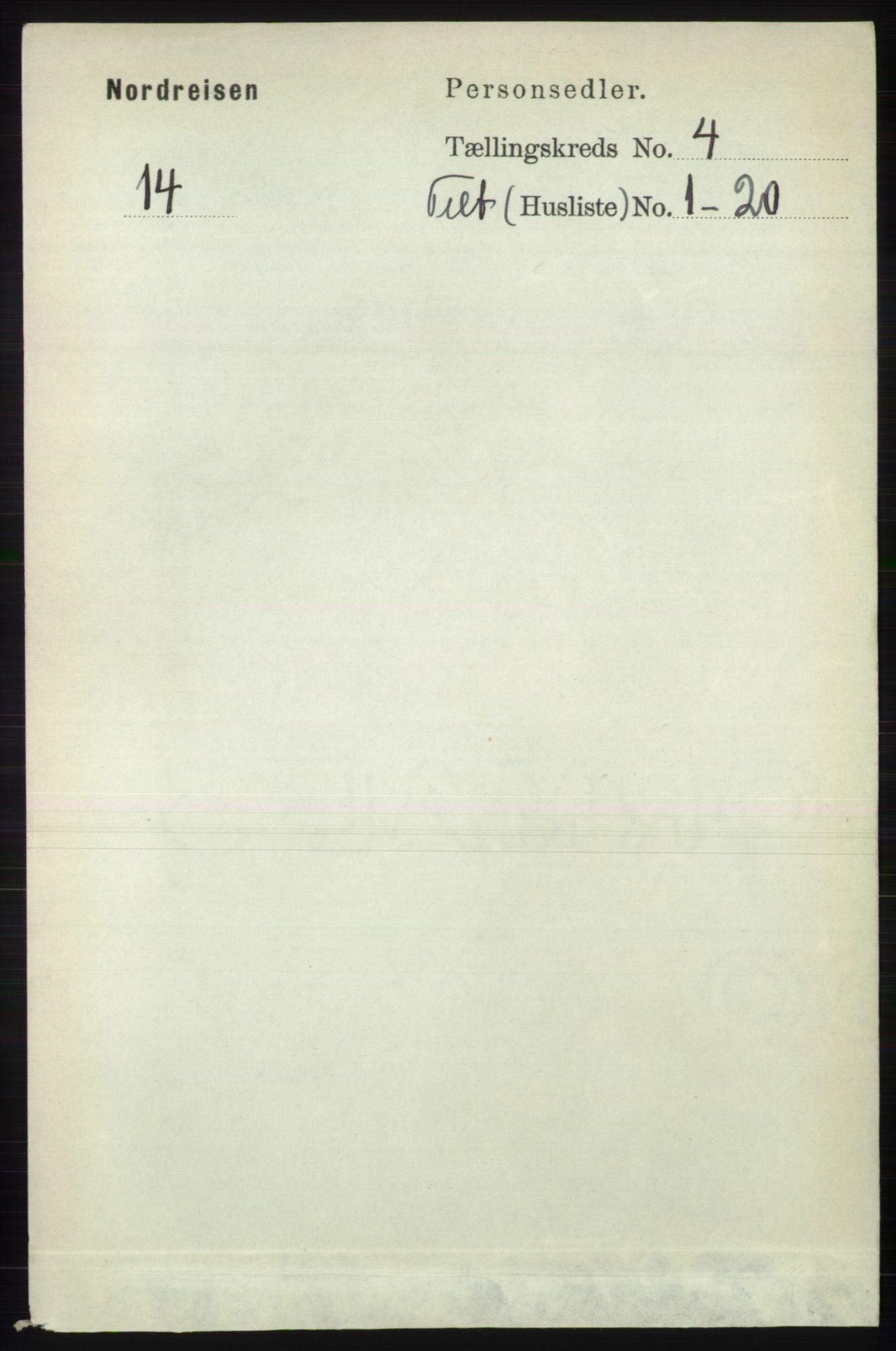 RA, Folketelling 1891 for 1942 Nordreisa herred, 1891, s. 1530