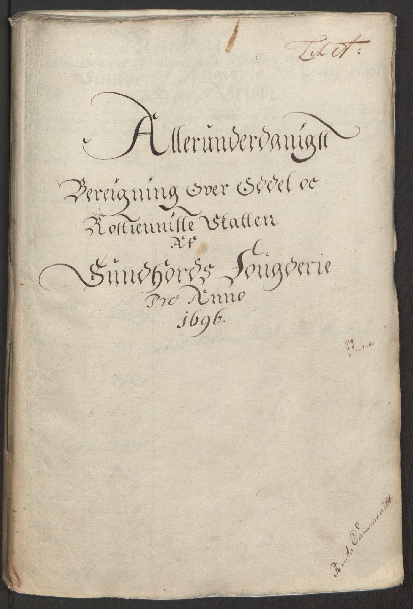 RA, Rentekammeret inntil 1814, Reviderte regnskaper, Fogderegnskap, R48/L2976: Fogderegnskap Sunnhordland og Hardanger, 1695-1696, s. 284