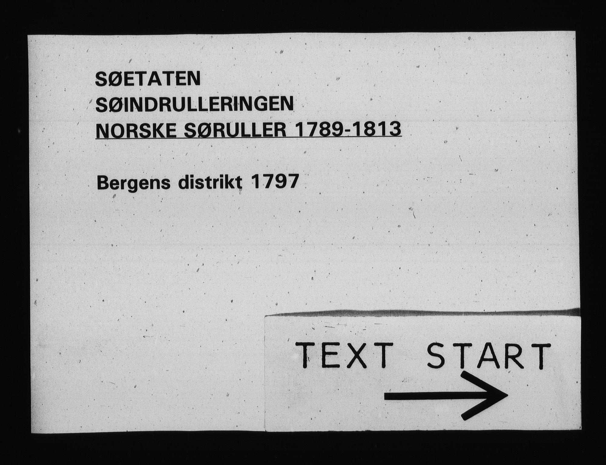 RA, Sjøetaten, F/L0226: Bergen distrikt, bind 1, 1797