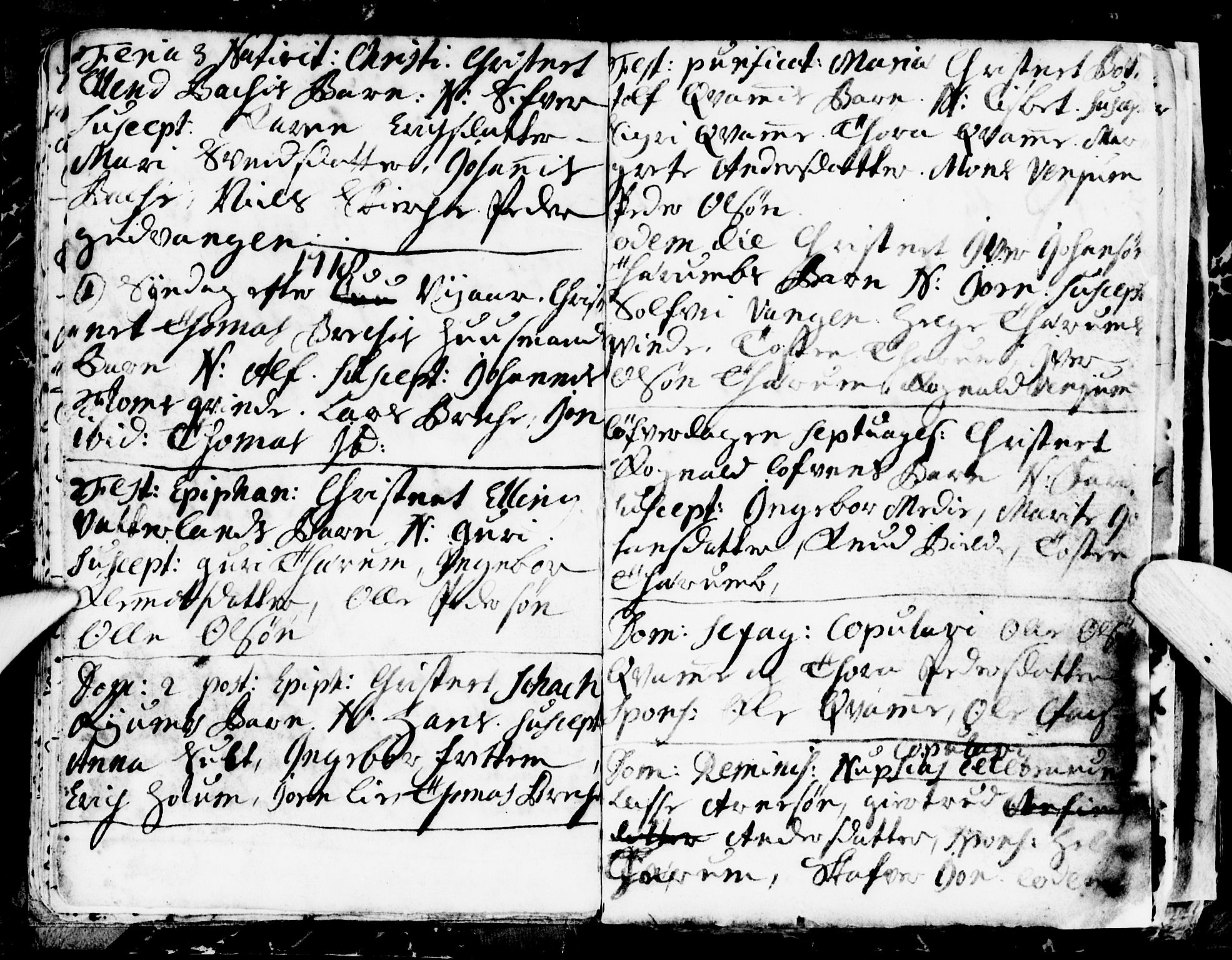 SAB, Aurland Sokneprestembete*, Ministerialbok nr. A 1, 1716-1734, s. 9
