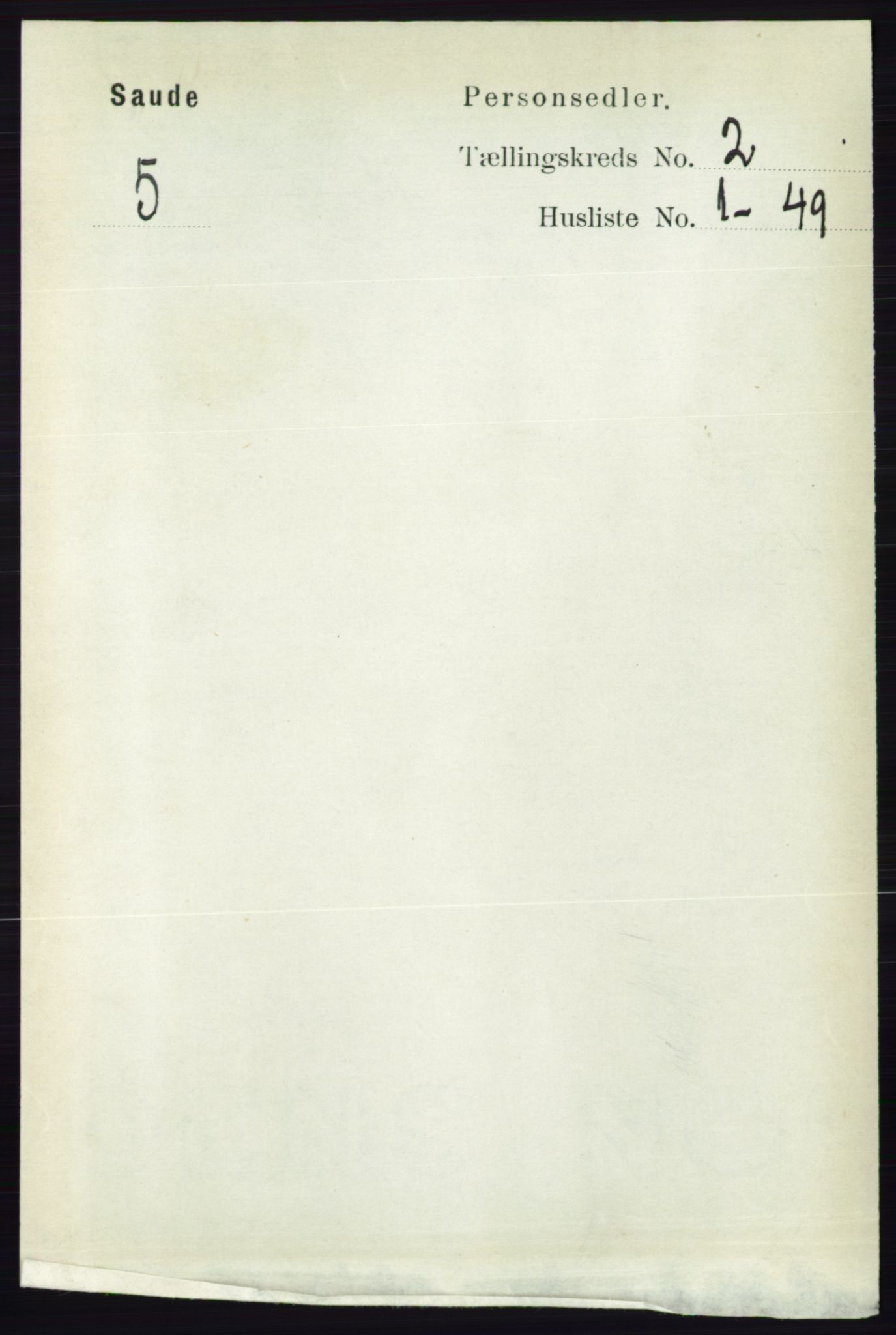 RA, Folketelling 1891 for 0822 Sauherad herred, 1891, s. 453