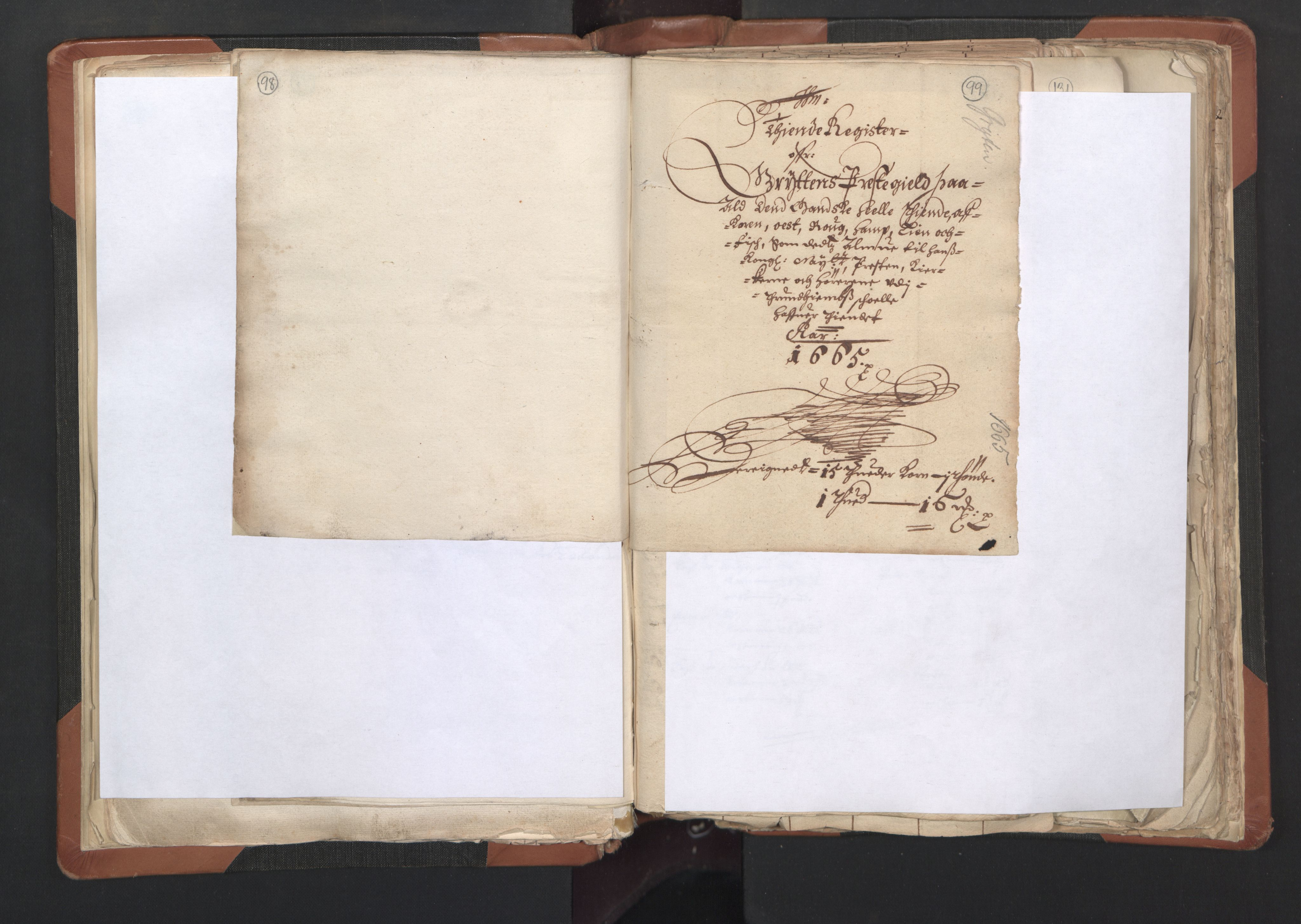 RA, Sogneprestenes manntall 1664-1666, nr. 27: Romsdal prosti, 1664-1666, s. 98-99