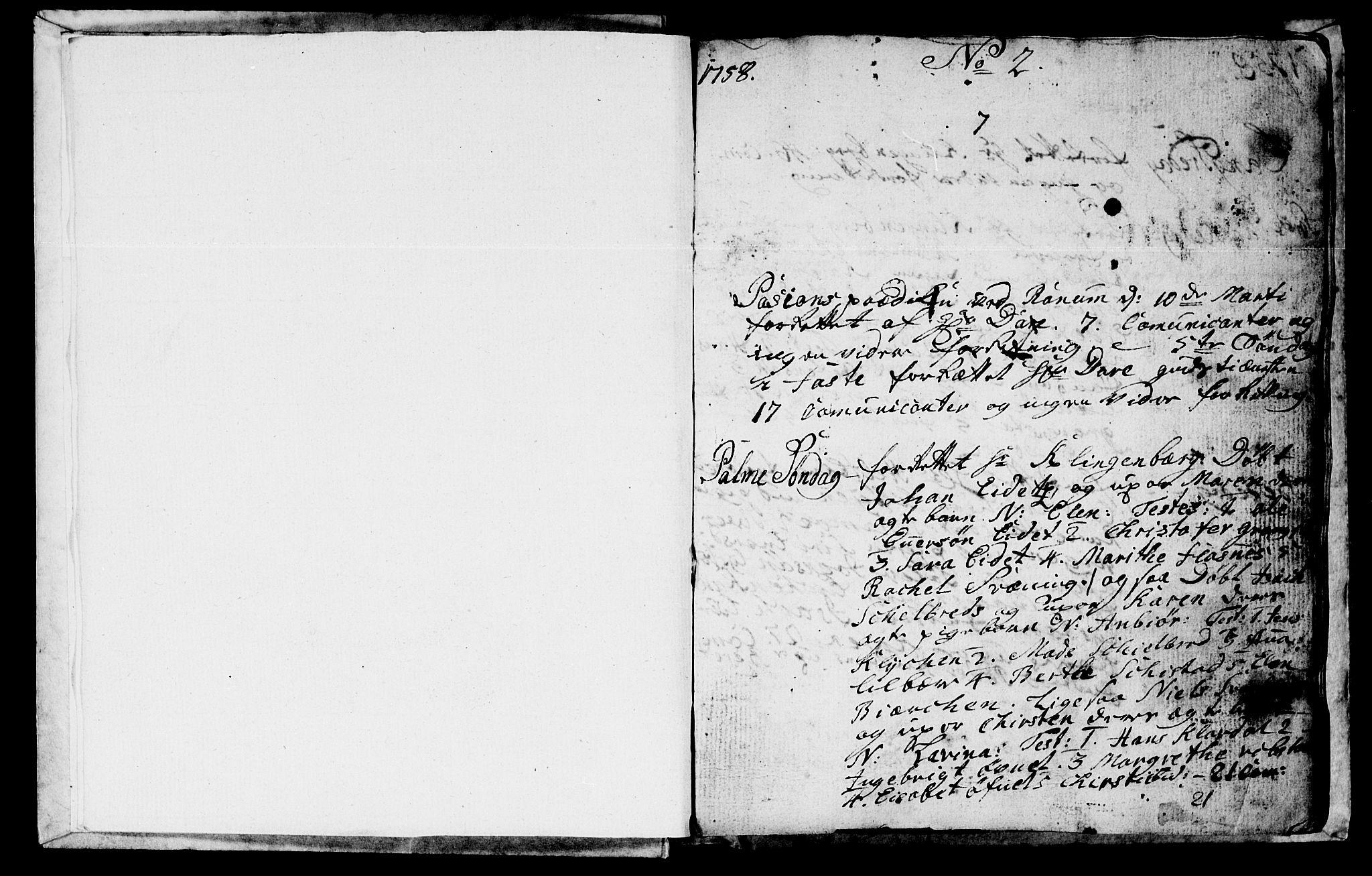 SAT, Ministerialprotokoller, klokkerbøker og fødselsregistre - Nord-Trøndelag, 764/L0543: Ministerialbok nr. 764A03, 1758-1765, s. 2