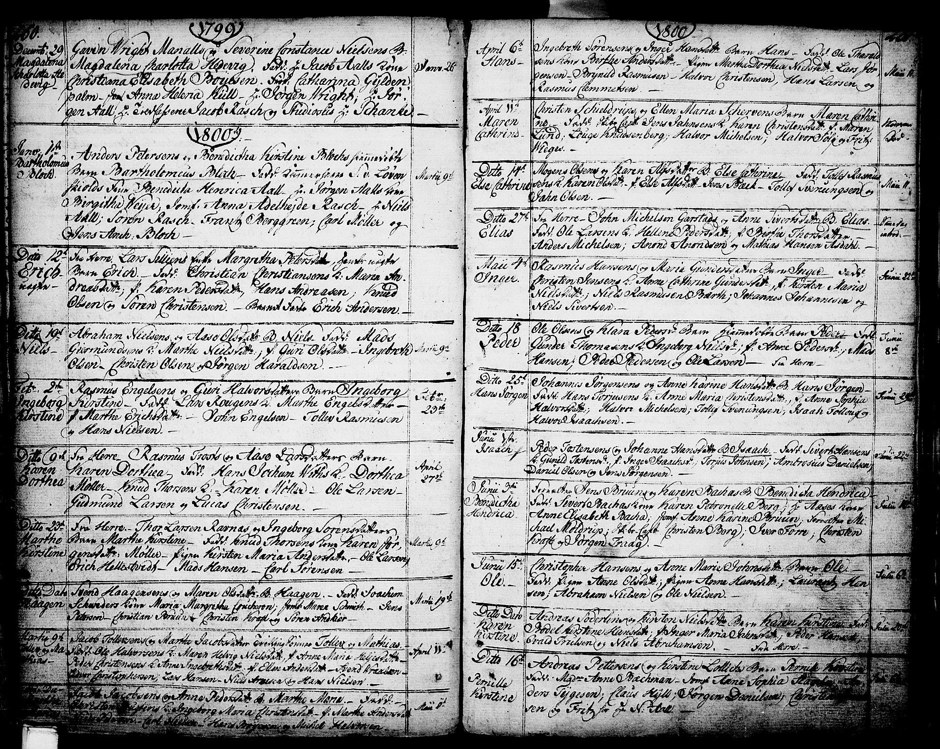 SAKO, Porsgrunn kirkebøker , F/Fa/L0002: Ministerialbok nr. 2, 1764-1814, s. 250-251