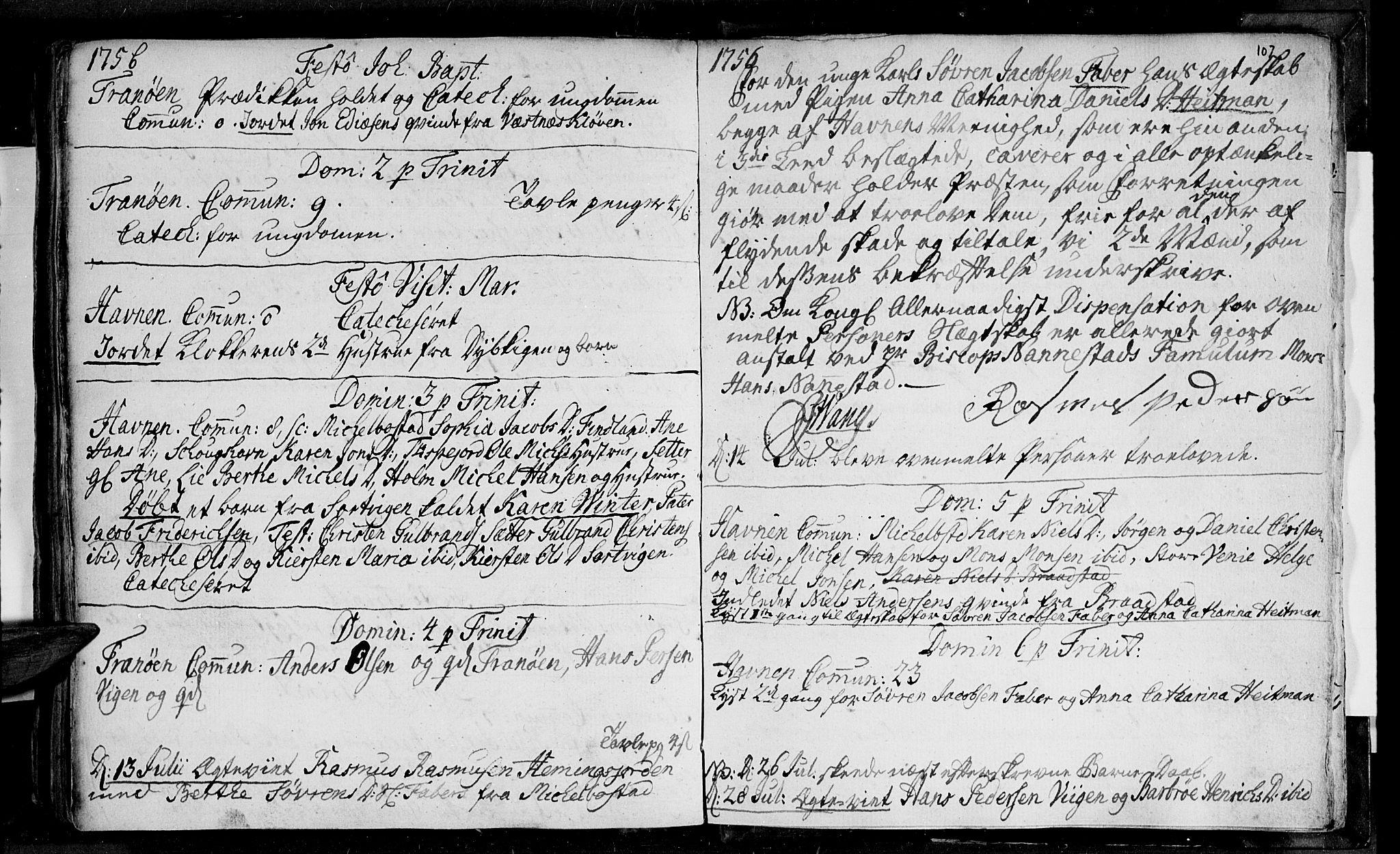 SATØ, Ibestad sokneprestembete, H/Ha/Haa/L0001kirke: Ministerialbok nr. 1, 1744-1757, s. 107