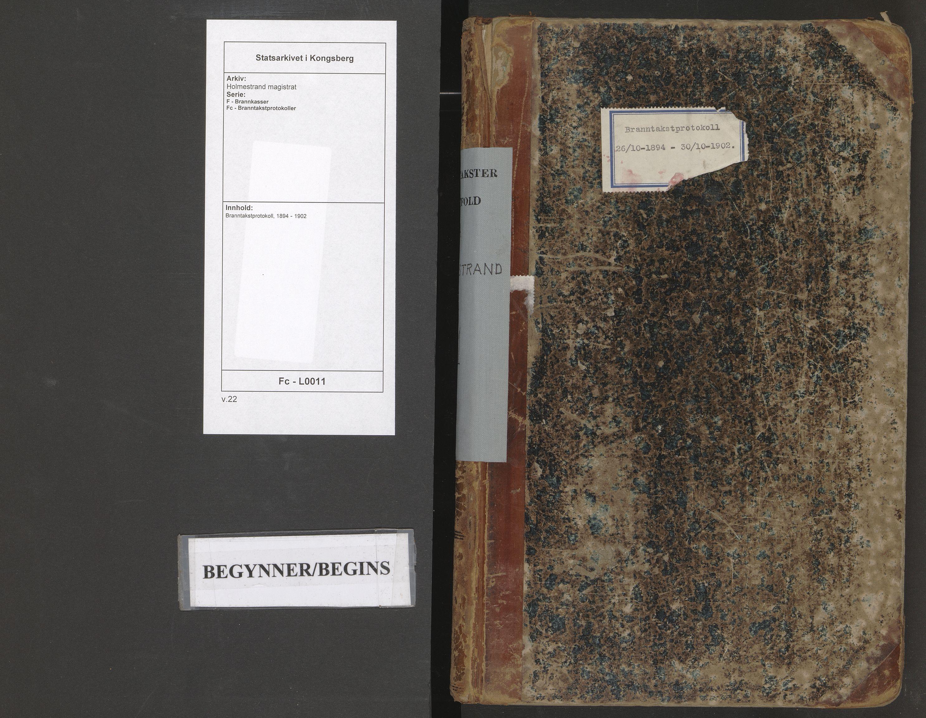 SAKO, Holmestrand magistrat, F/Fc/L0011: Branntakstprotokoll, 1894-1902