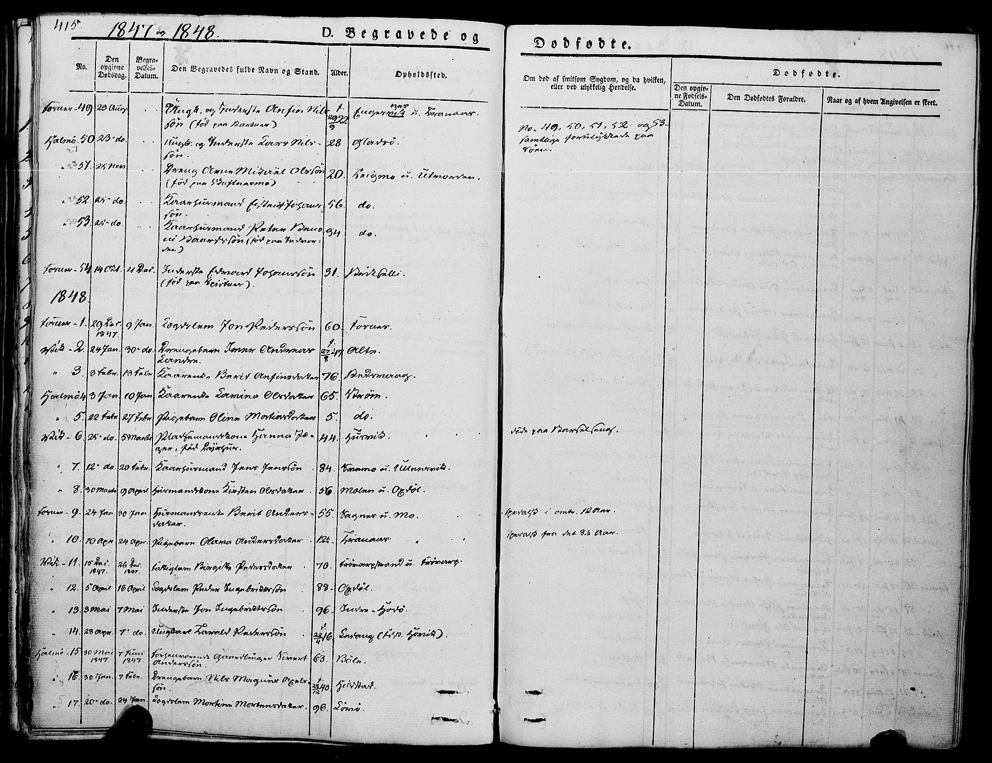 SAT, Ministerialprotokoller, klokkerbøker og fødselsregistre - Nord-Trøndelag, 773/L0614: Ministerialbok nr. 773A05, 1831-1856, s. 415