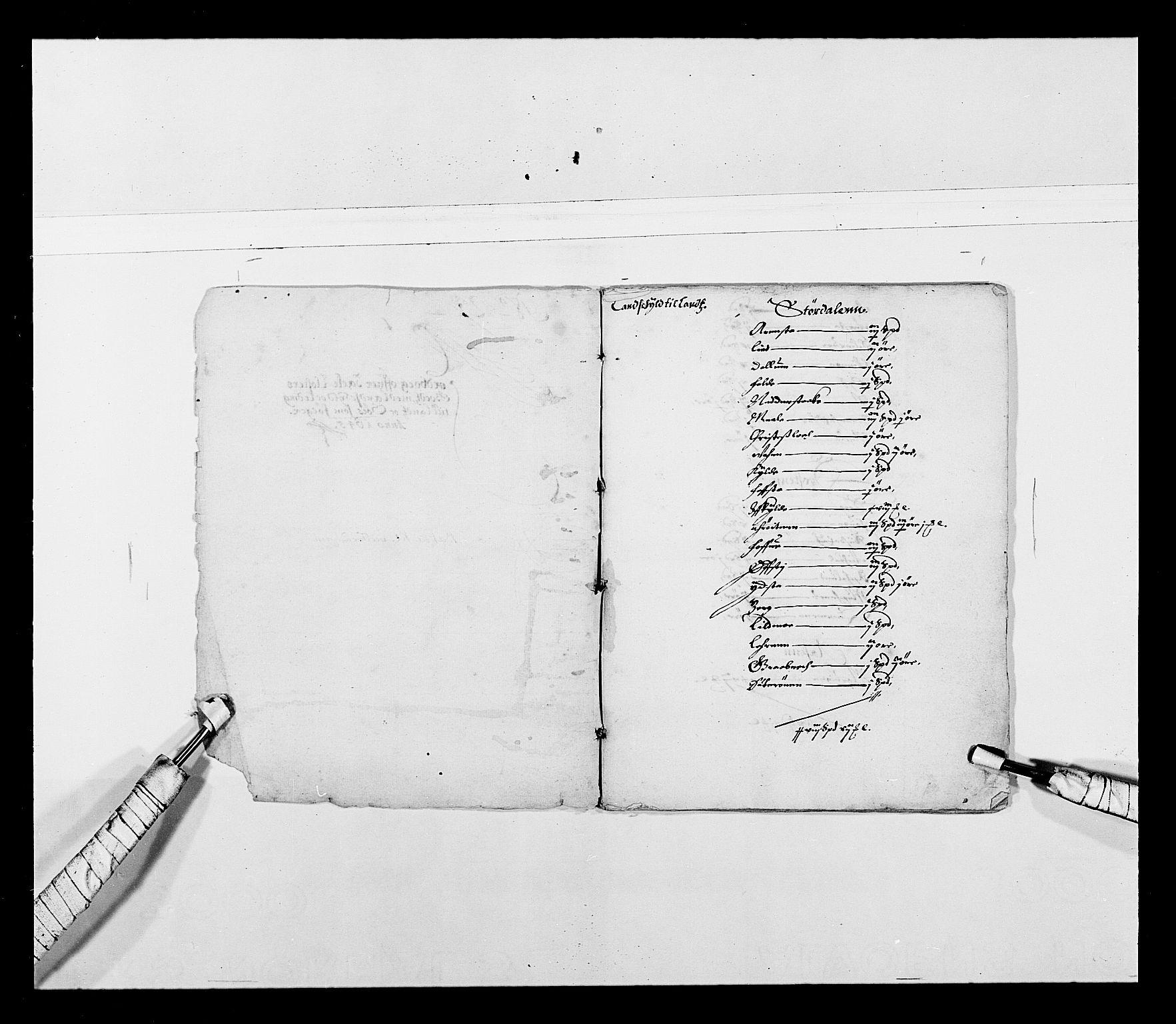 RA, Stattholderembetet 1572-1771, Ek/L0027: Jordebøker 1633-1658:, 1644-1645, s. 36