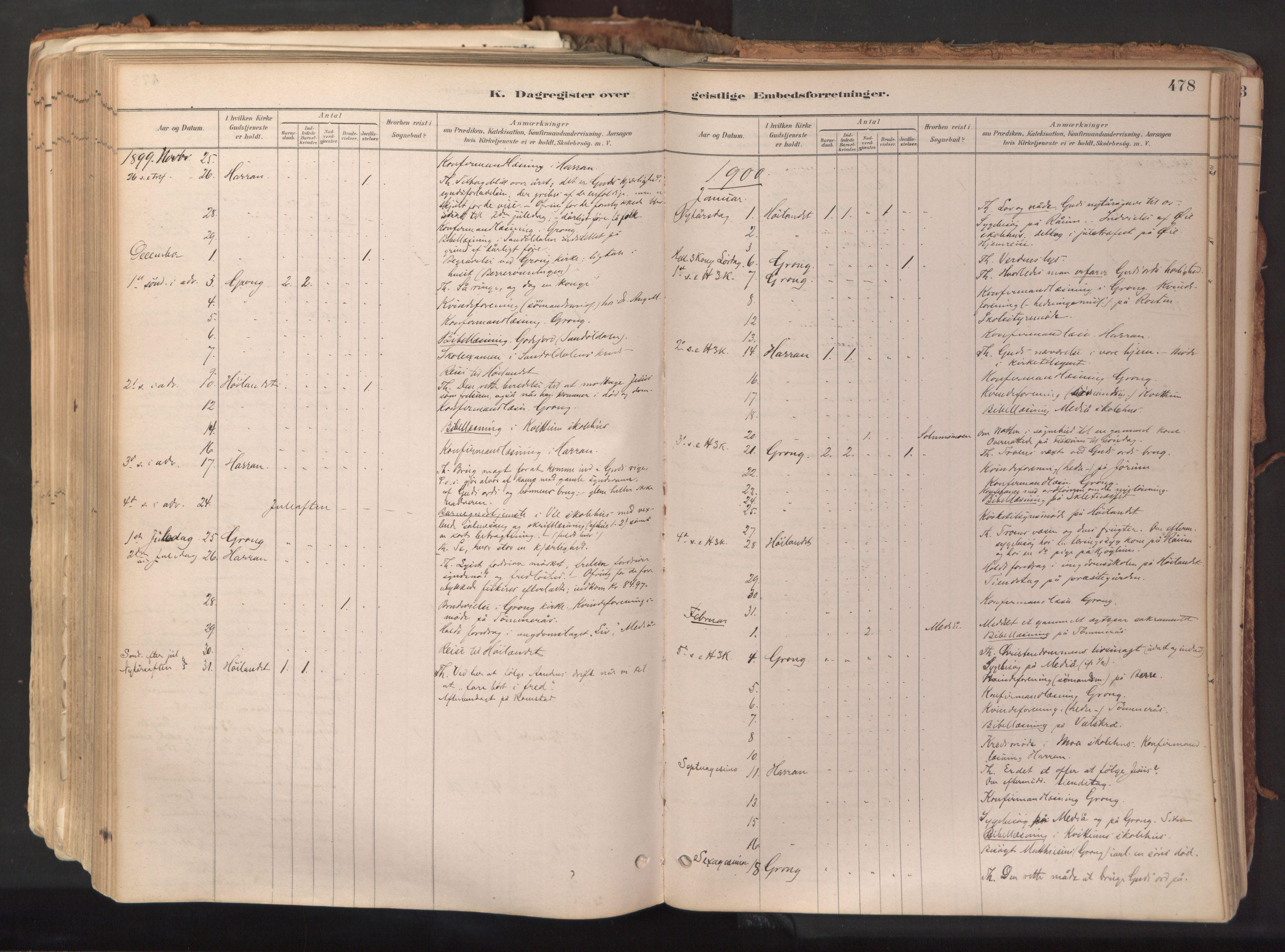 SAT, Ministerialprotokoller, klokkerbøker og fødselsregistre - Nord-Trøndelag, 758/L0519: Ministerialbok nr. 758A04, 1880-1926, s. 478