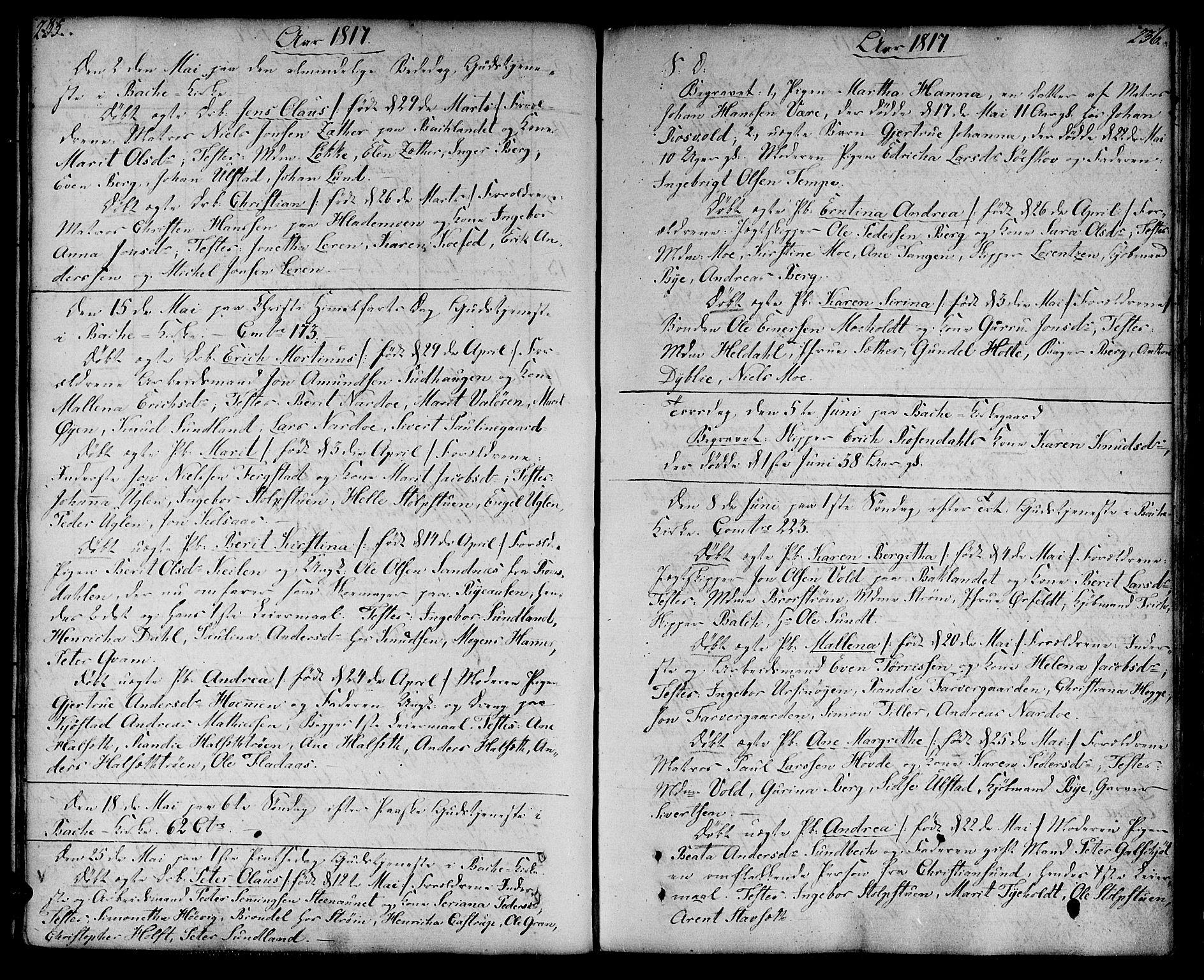 SAT, Ministerialprotokoller, klokkerbøker og fødselsregistre - Sør-Trøndelag, 604/L0181: Ministerialbok nr. 604A02, 1798-1817, s. 235-236