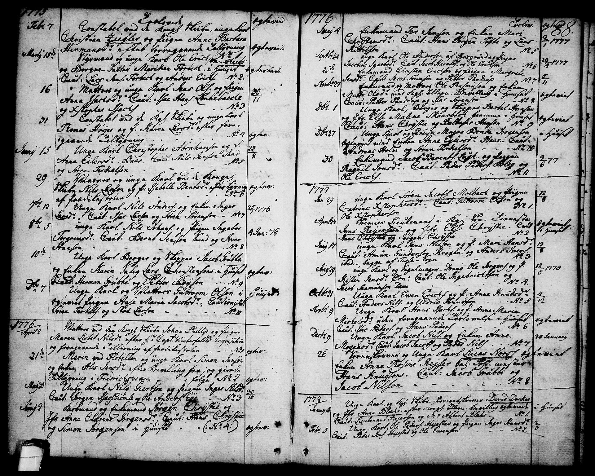 SAKO, Brevik kirkebøker, F/Fa/L0003: Ministerialbok nr. 3, 1764-1814, s. 88