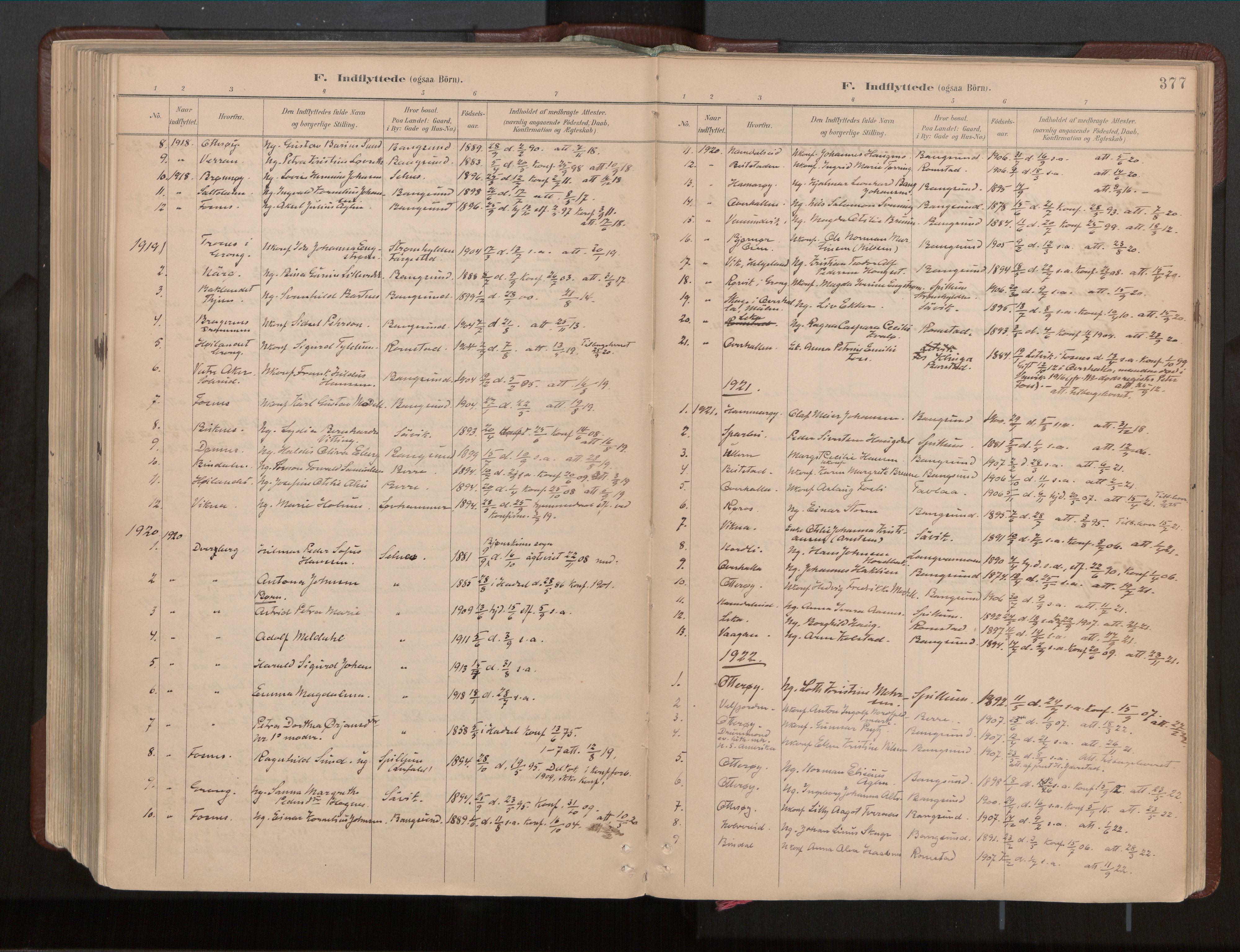 SAT, Ministerialprotokoller, klokkerbøker og fødselsregistre - Nord-Trøndelag, 770/L0589: Ministerialbok nr. 770A03, 1887-1929, s. 377
