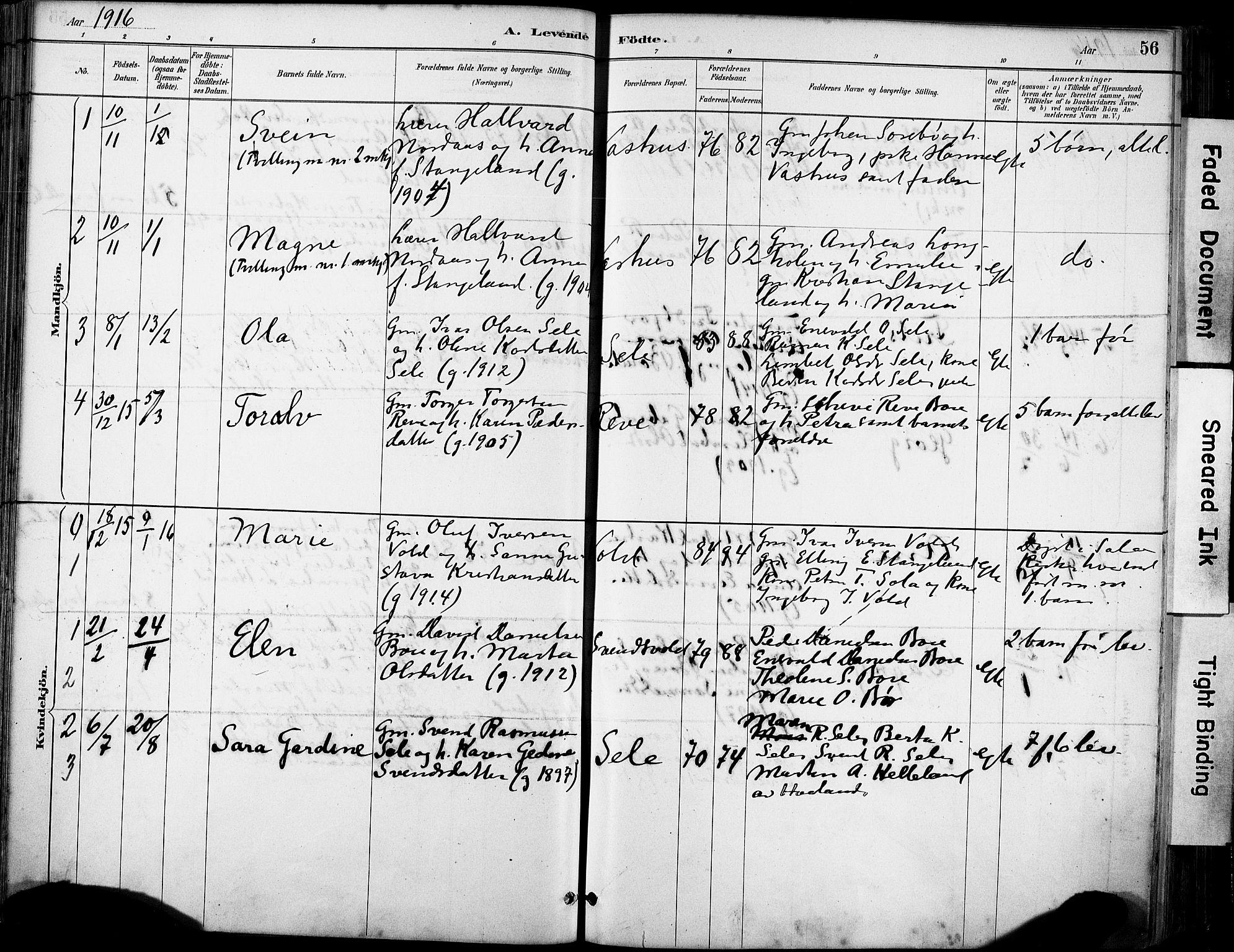SAST, Klepp sokneprestkontor, 30BA/L0008: Ministerialbok nr. A 9, 1886-1919, s. 56