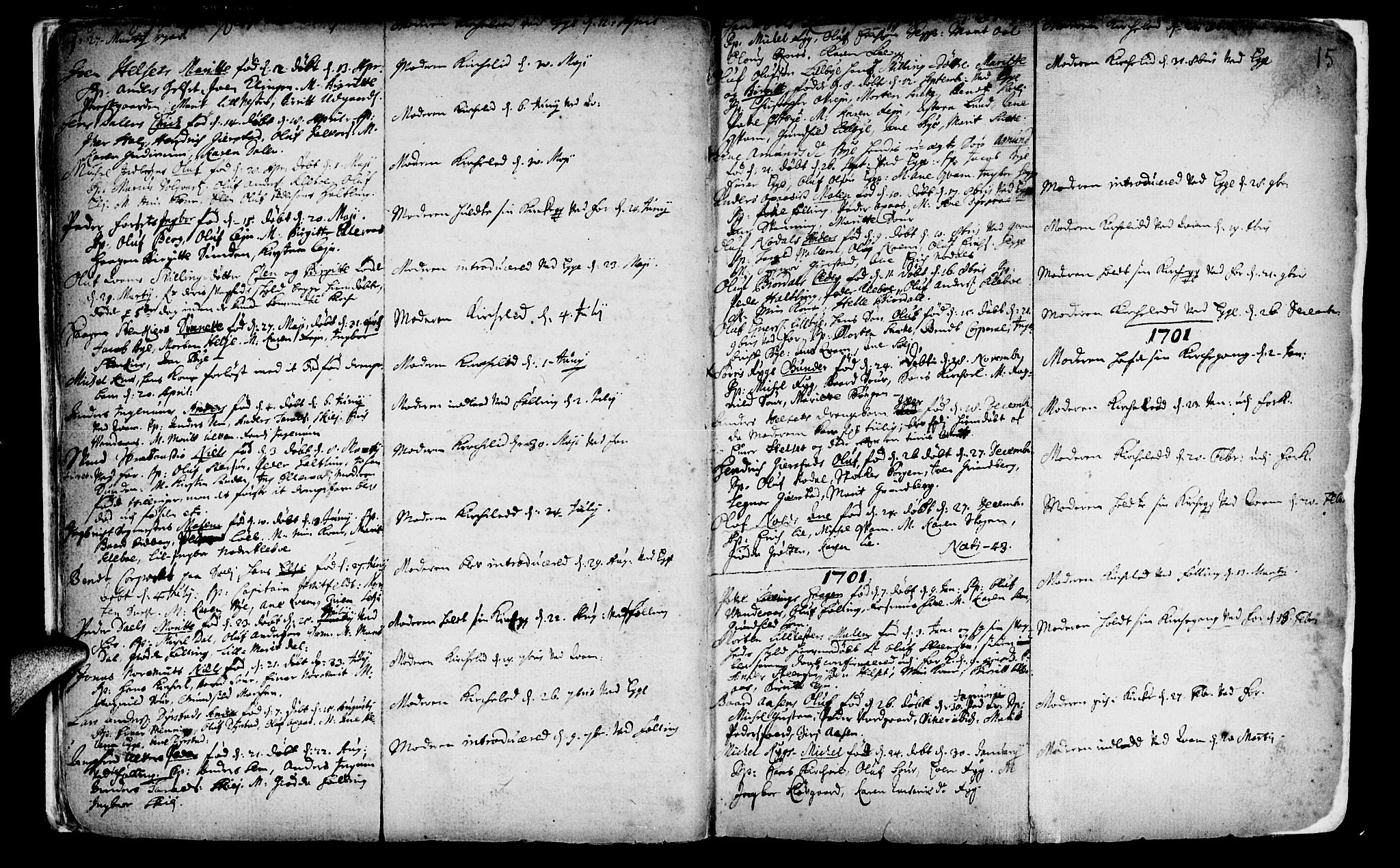 SAT, Ministerialprotokoller, klokkerbøker og fødselsregistre - Nord-Trøndelag, 746/L0439: Ministerialbok nr. 746A01, 1688-1759, s. 15