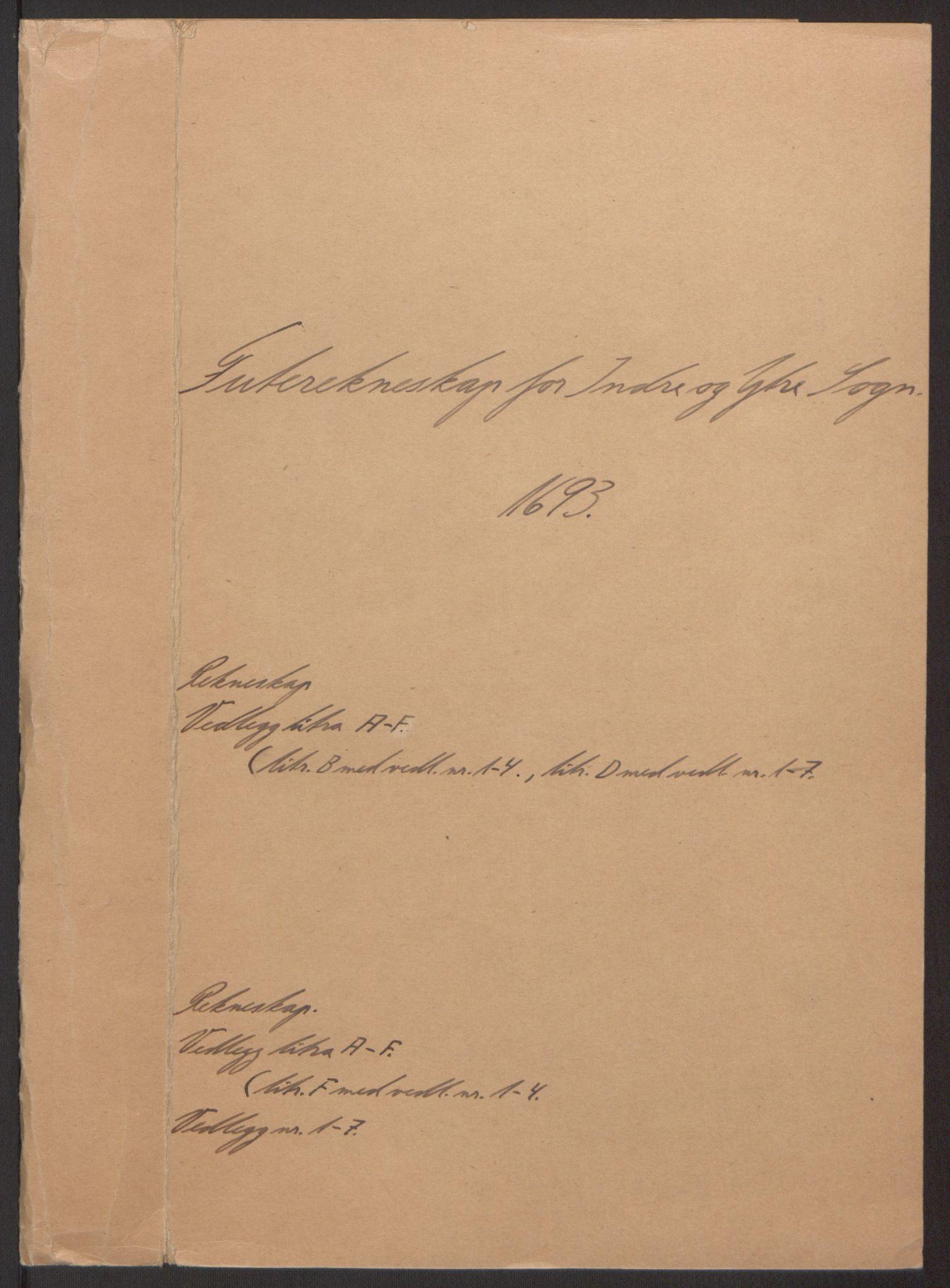 RA, Rentekammeret inntil 1814, Reviderte regnskaper, Fogderegnskap, R52/L3307: Fogderegnskap Sogn, 1693-1694, s. 2