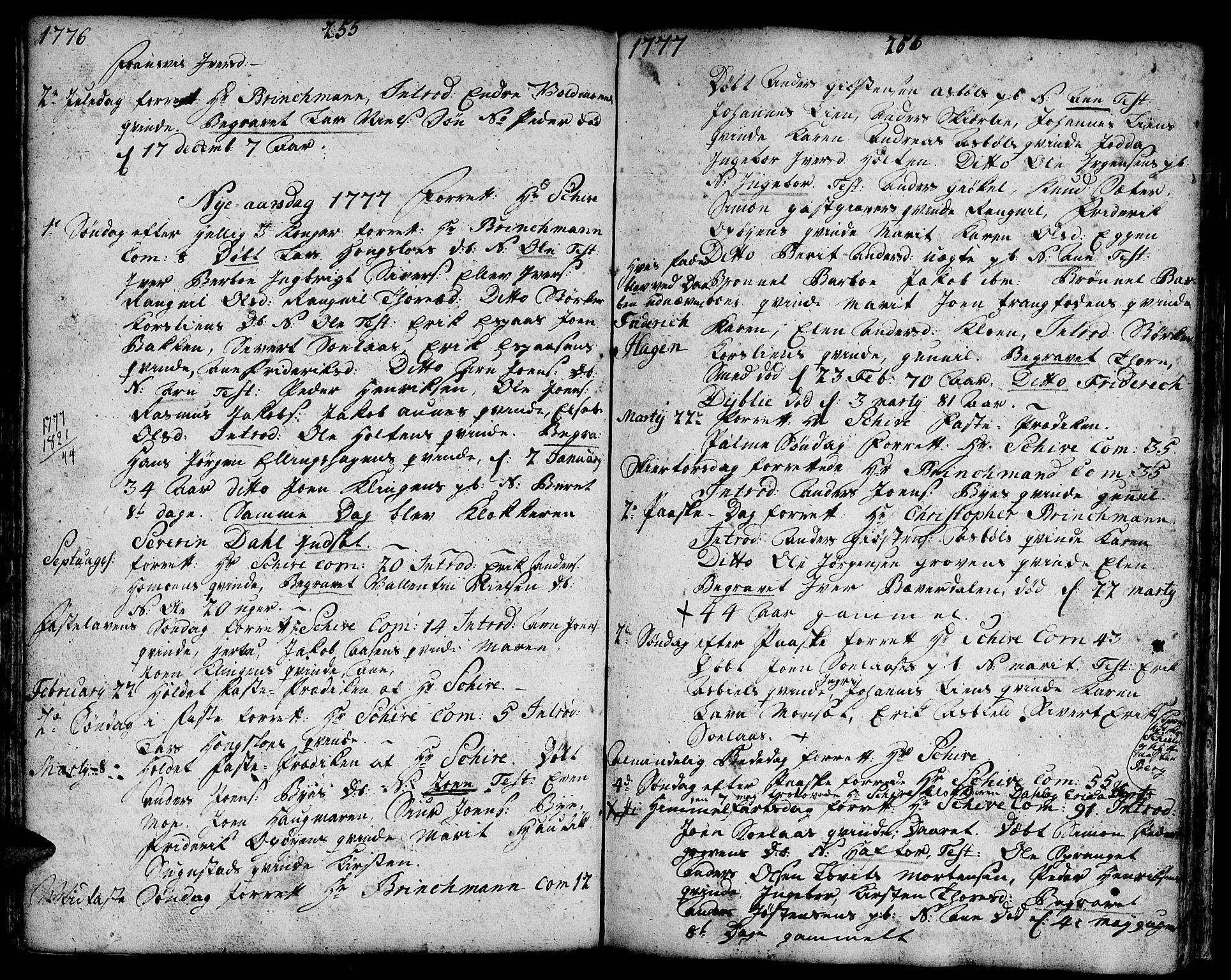 SAT, Ministerialprotokoller, klokkerbøker og fødselsregistre - Sør-Trøndelag, 671/L0840: Ministerialbok nr. 671A02, 1756-1794, s. 255-256