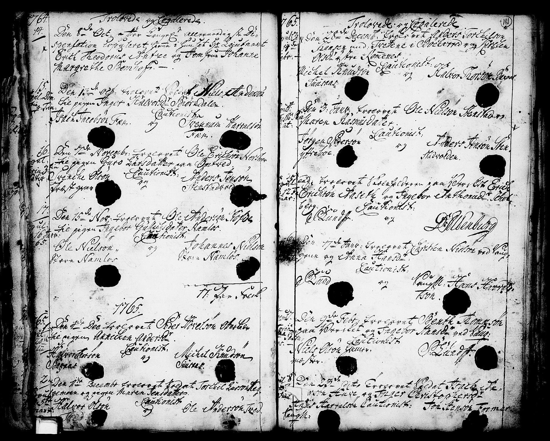 SAKO, Holla kirkebøker, F/Fa/L0001: Ministerialbok nr. 1, 1717-1779, s. 181