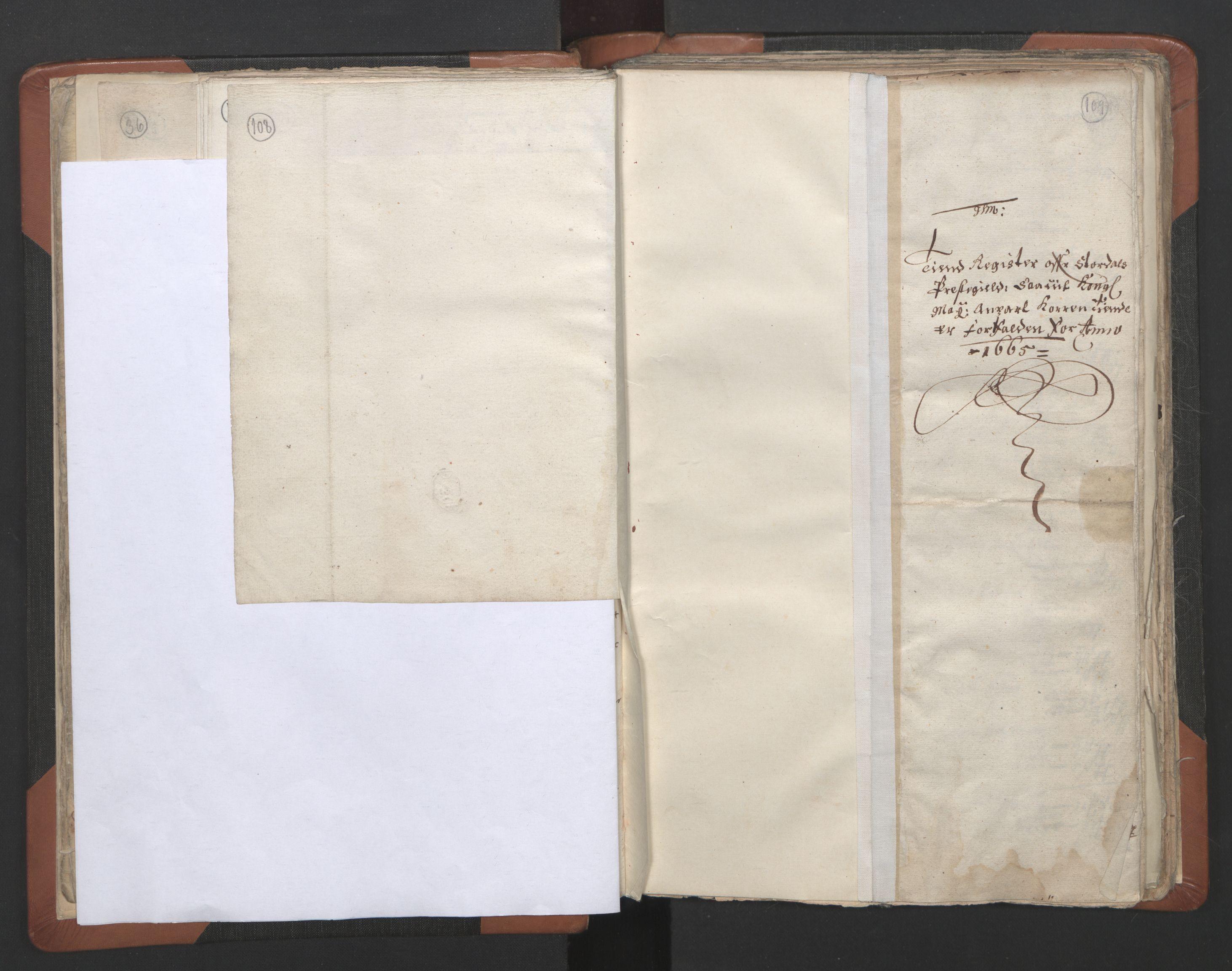 RA, Sogneprestenes manntall 1664-1666, nr. 32: Innherad prosti, 1664-1666, s. 108-109